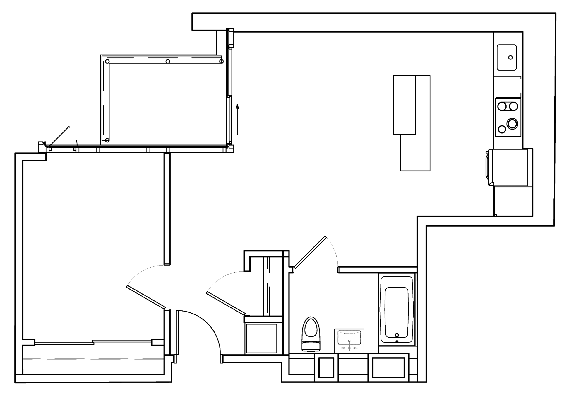 ONE-BED - LAYOUT D