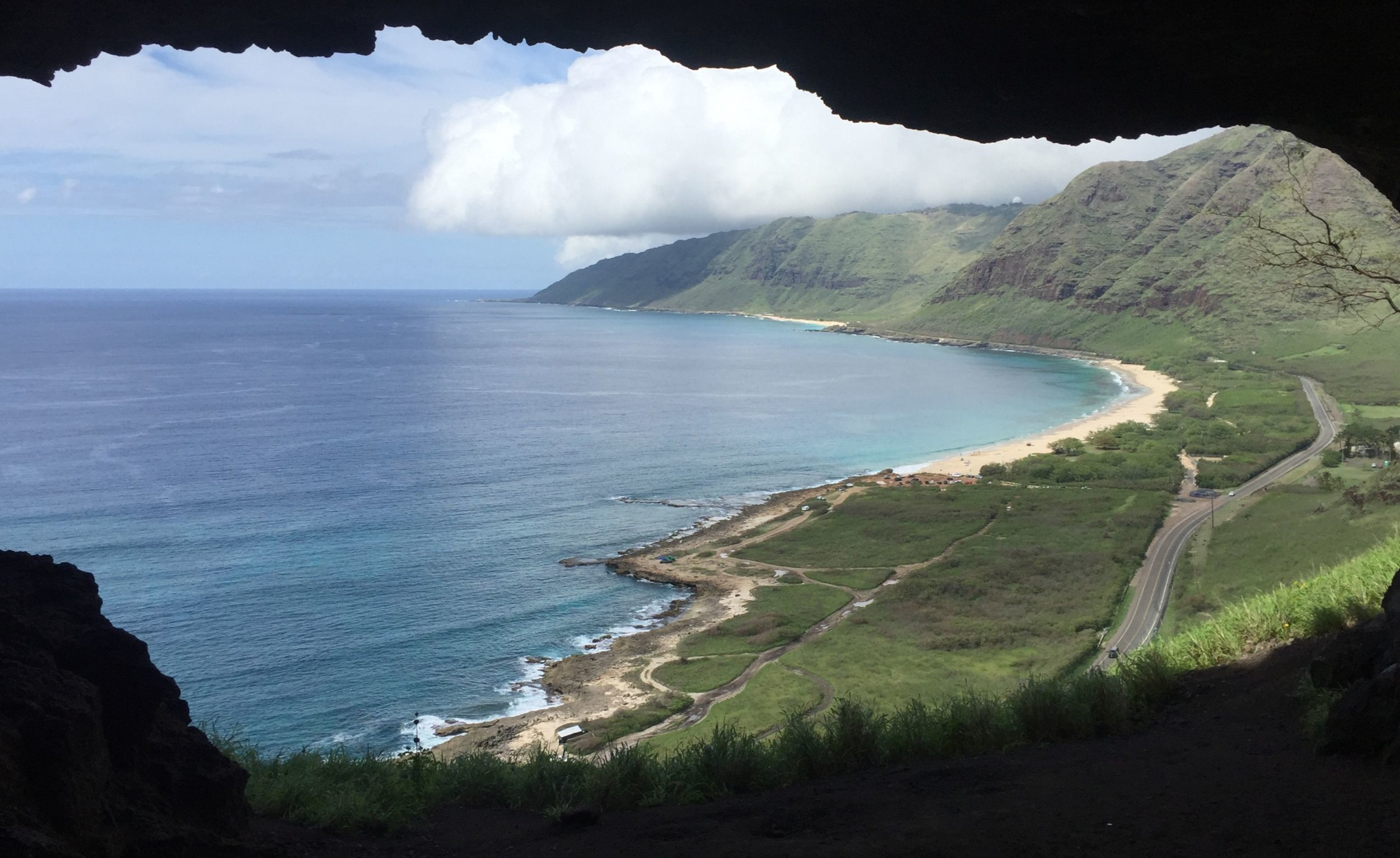 View Northward from Upper Makua Cave.