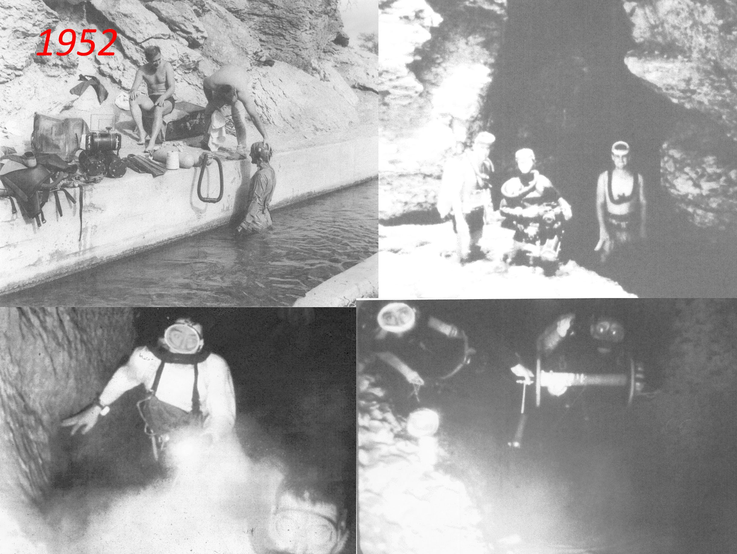 Early divers in Phantom Cave.