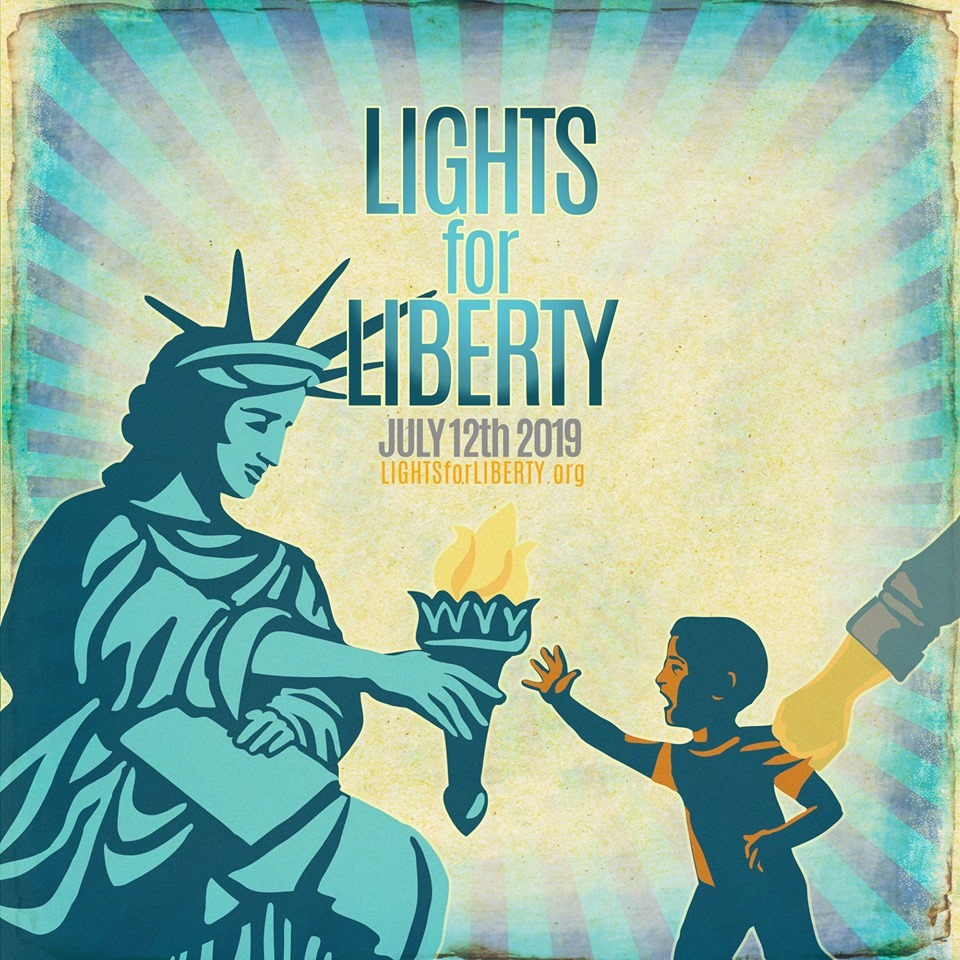 On Friday July 12th, 2019, Lights for Liberty: A Vigil to End Human Detention Camps, will bring thousands of Americans to detention camps across the country, into the streets and into their own front yards, to protest the inhumane conditions faced by refugees.  Join us at Marin's vigil, held at the Novato City Hall beginnning at 7 pm and make your voice heard.