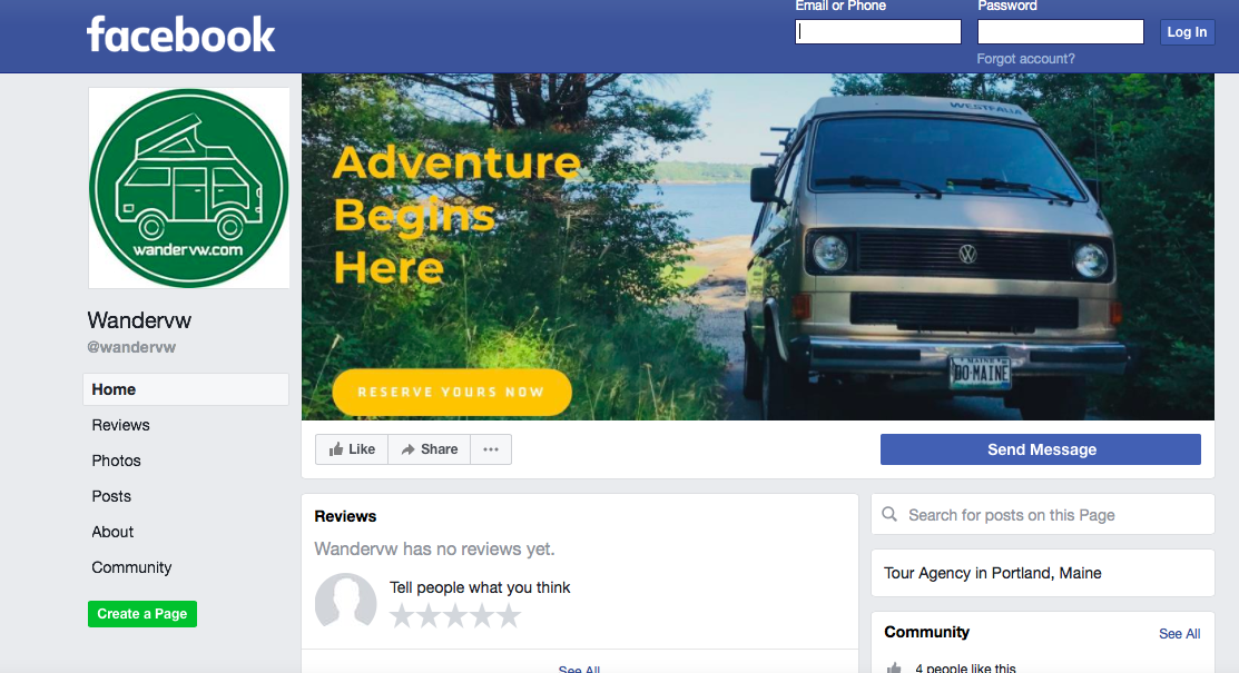 Join us on Facebook and follow the launch of  WanderVW !  We will be introducing the different vans there, sharing what our tours are going to be all about and chronicling our clients experiences in our amazing vans!