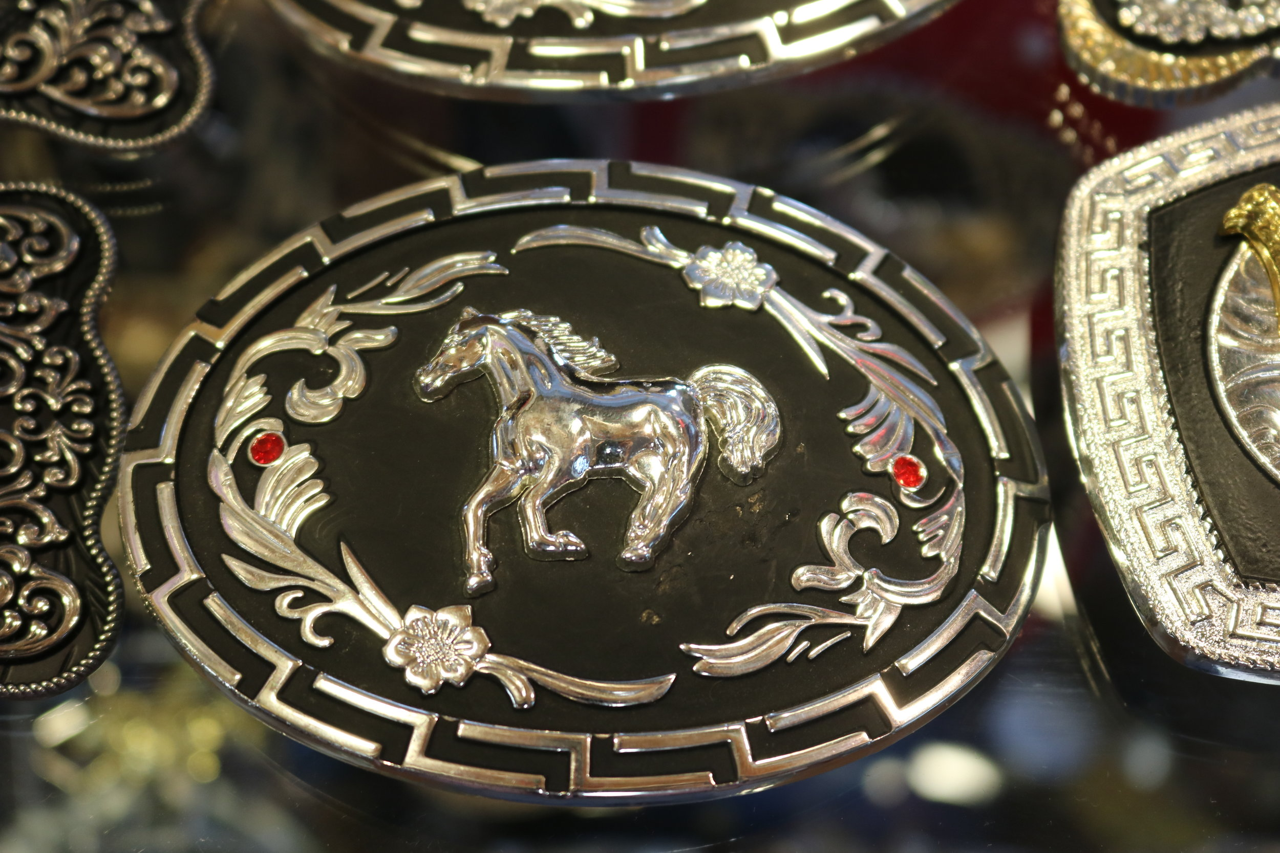 Belt buckles and accesories.