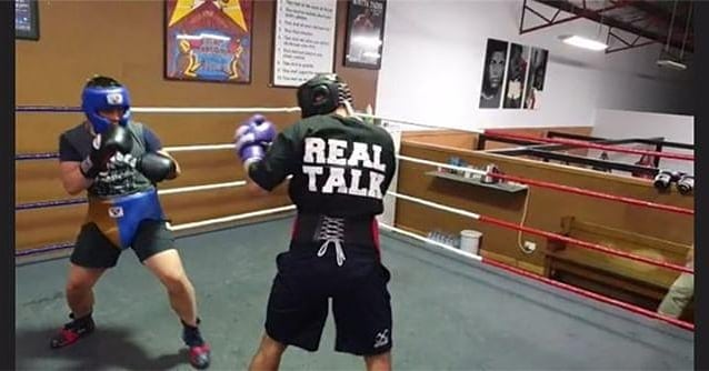 Shot to the bro @mikey.jenner sparring for his upcoming bout in our Real Talk tee shirt