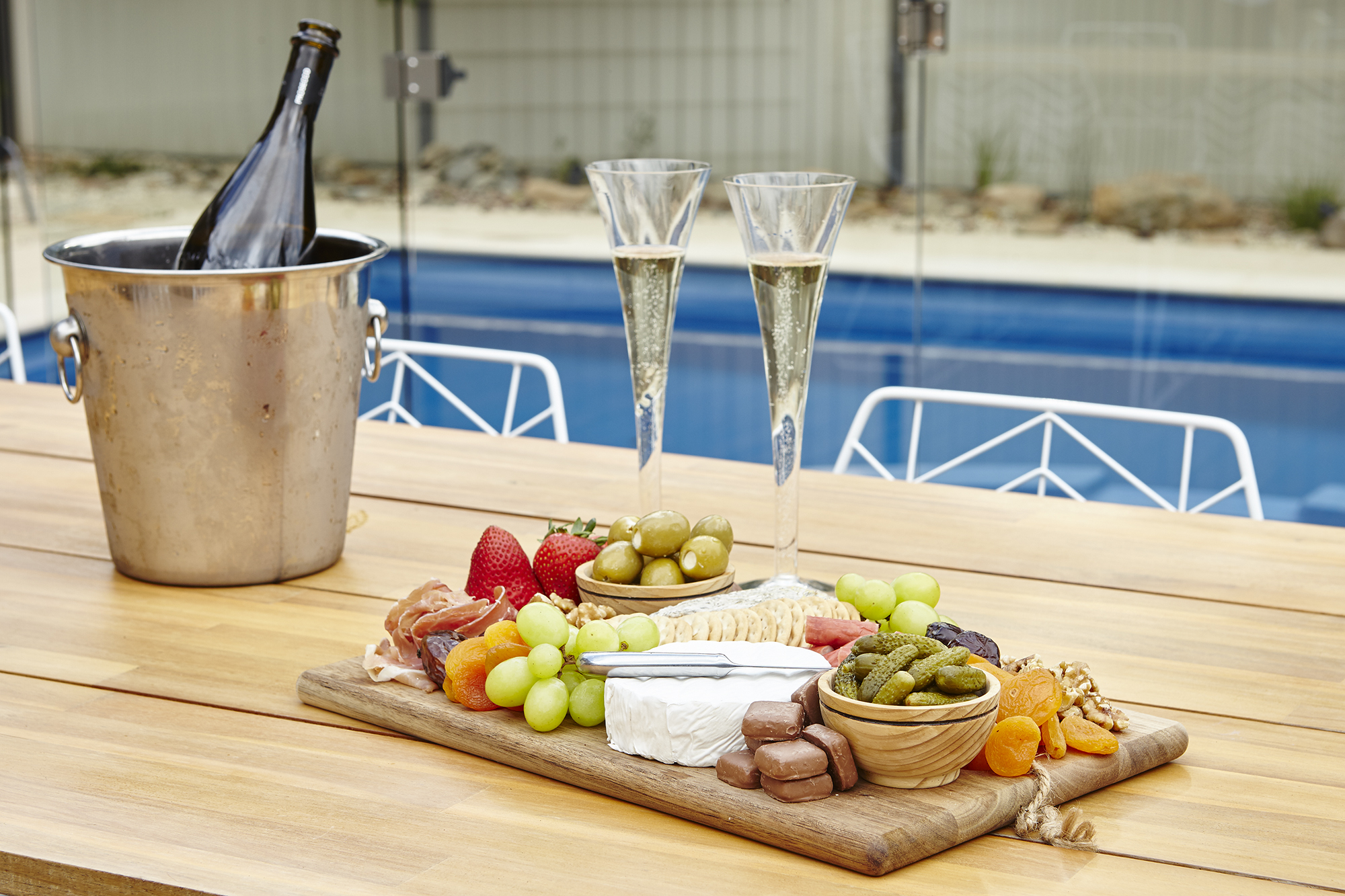 Limewedge  Platters by the pool