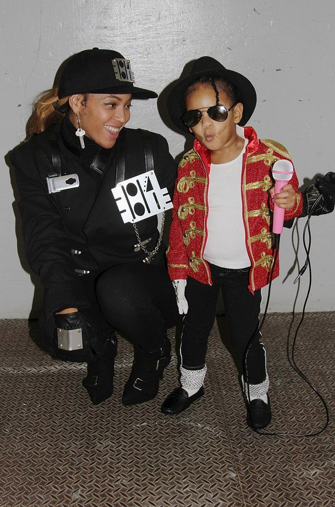 beyonce and blue ivy - as Janet and Michael Jackson (photo cred: Harper's Bazaar)