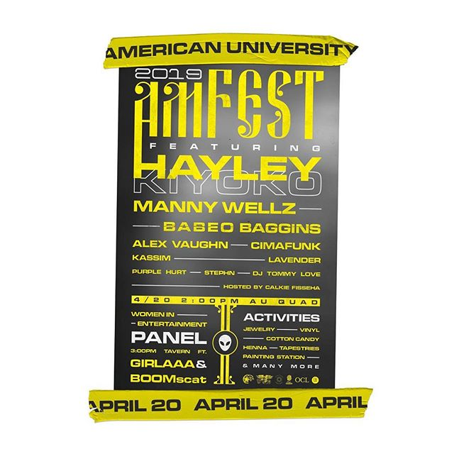 ⚠️⚠️⚠️ @ausgsub is hosting their annual AmFest tomorrow, Saturday April 20th and PHAZE has been choosen as one of their vendors this year!! Stop by @americanuniversity Quad tomorrow from 2-11pm to check out performances by @hayleykiyoko and @whoisalexvaughn, a panel hosted by @boomscat and other amazing vendors, artists and free merch! We'll be selling PHAZE ZINE: Issue 01 along with our new logo stickers. What better way to spend your 4/20 😉✨🌟 DM us for more information!