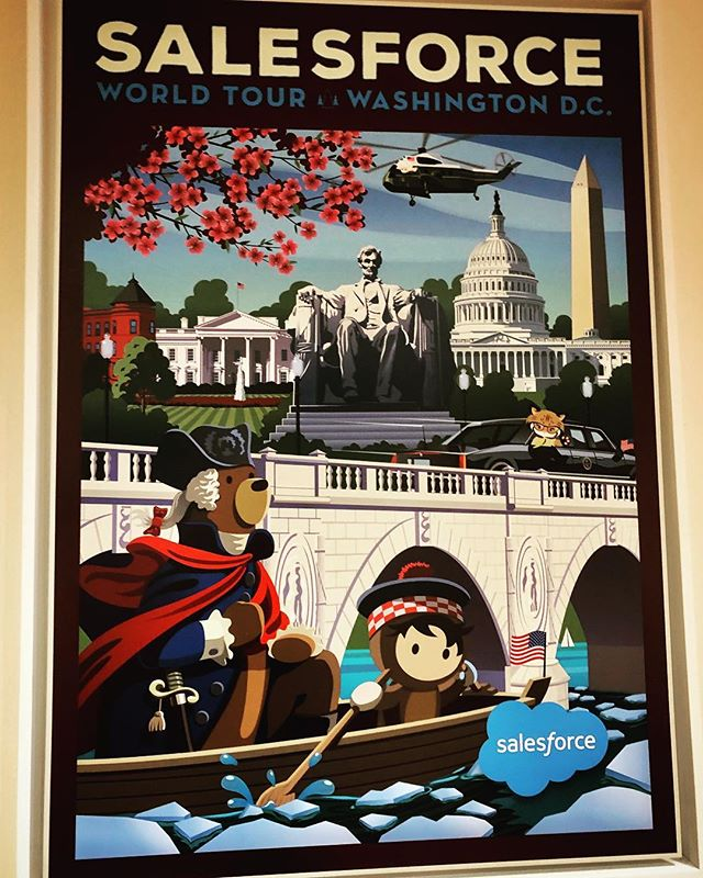 Spring field trip to the @salesforce gov campground in Reston! 😎🌸👨🏼‍💻💙💪🏛🇺🇸 #SalesforceGov #FutureGov #DigitalTransformation