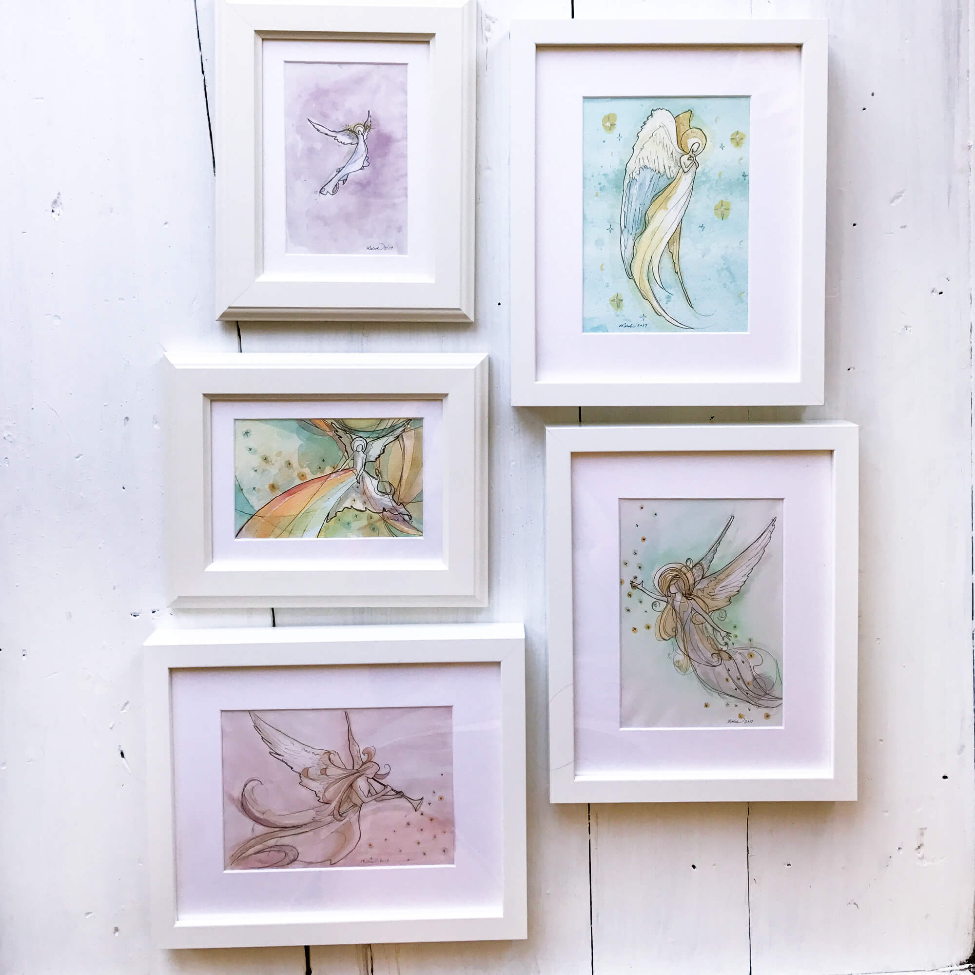 Framed and signed watercolor sketches will be for sale.A cute addition to a nursery or kiddo room. $45 - $75