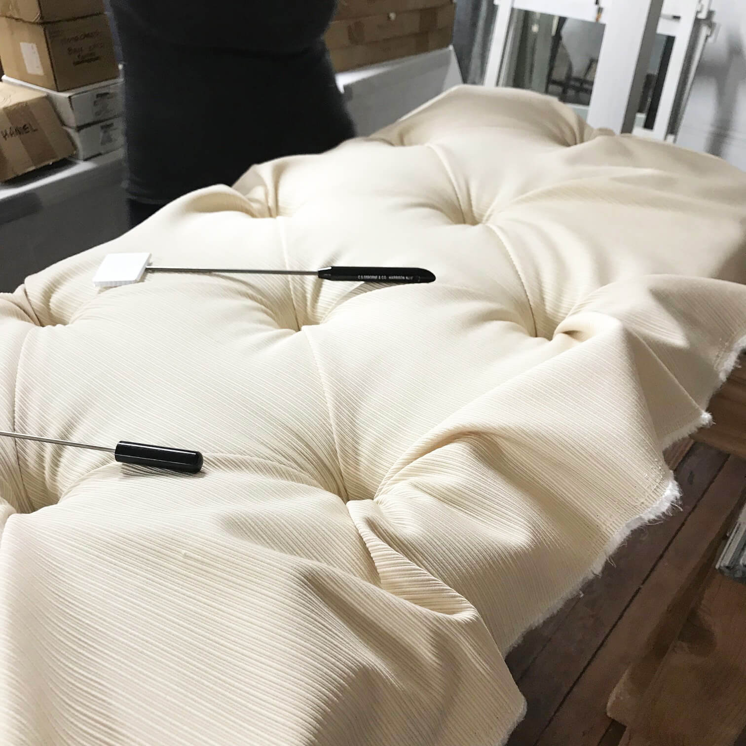 Tufting upholstery is amazing