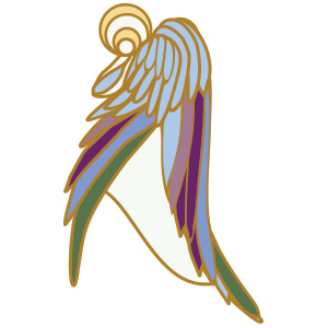 Finalizing the colors I wanted - Angels can be so many colors - usually reflecting the aura of those they guard. I didn't want this guardian limited to one.