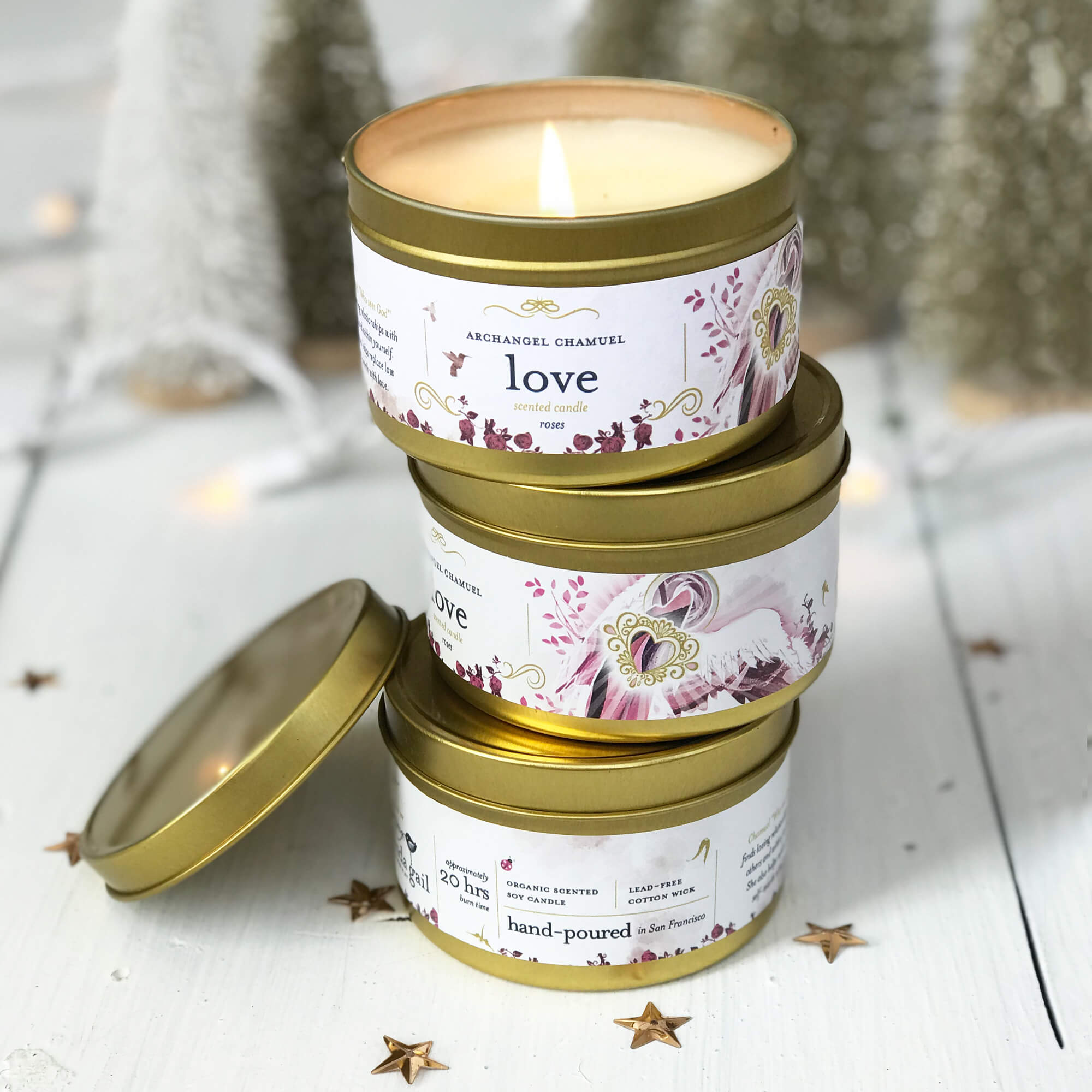 'Love' angel soy candle - $12