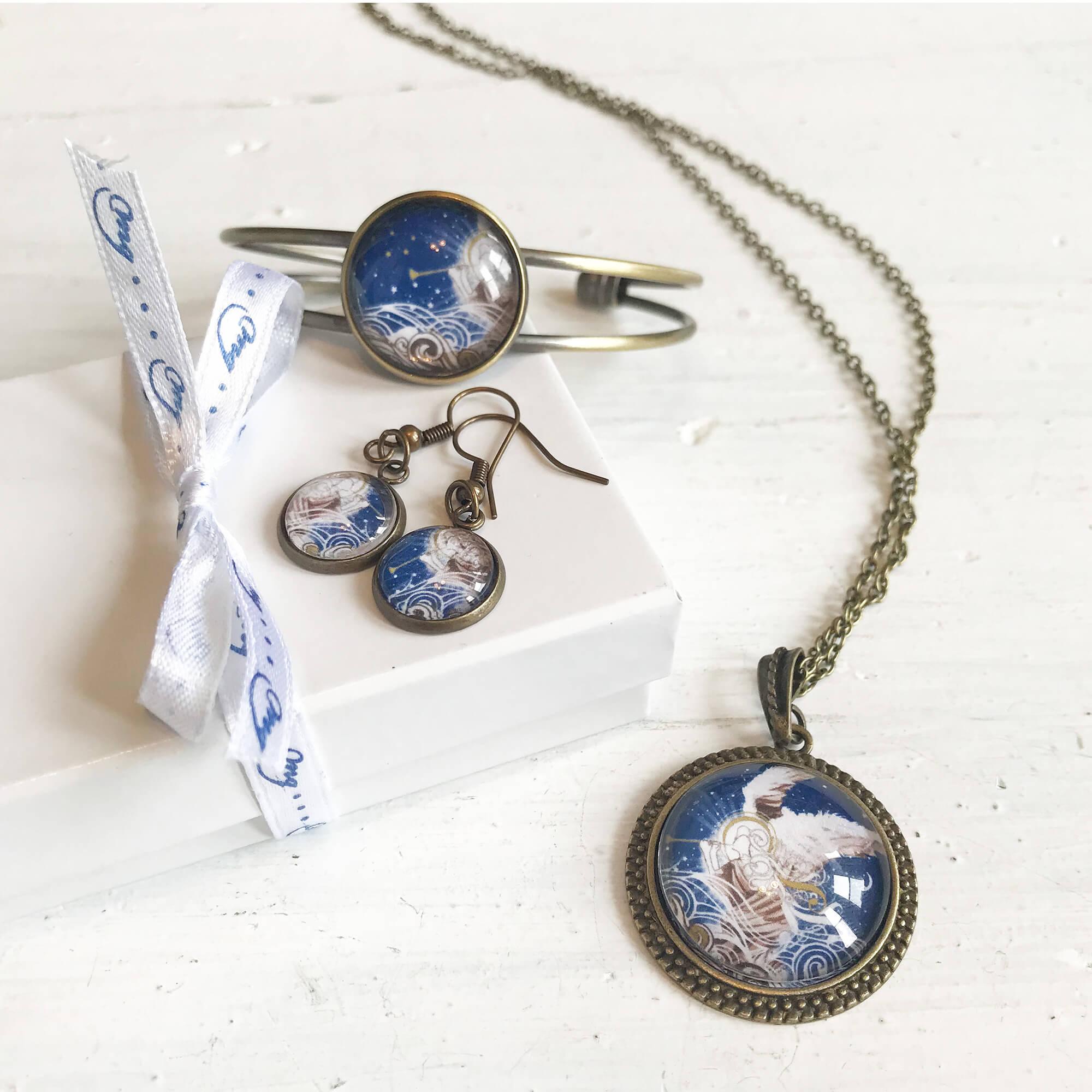 Angel assistance jewelry set - $55