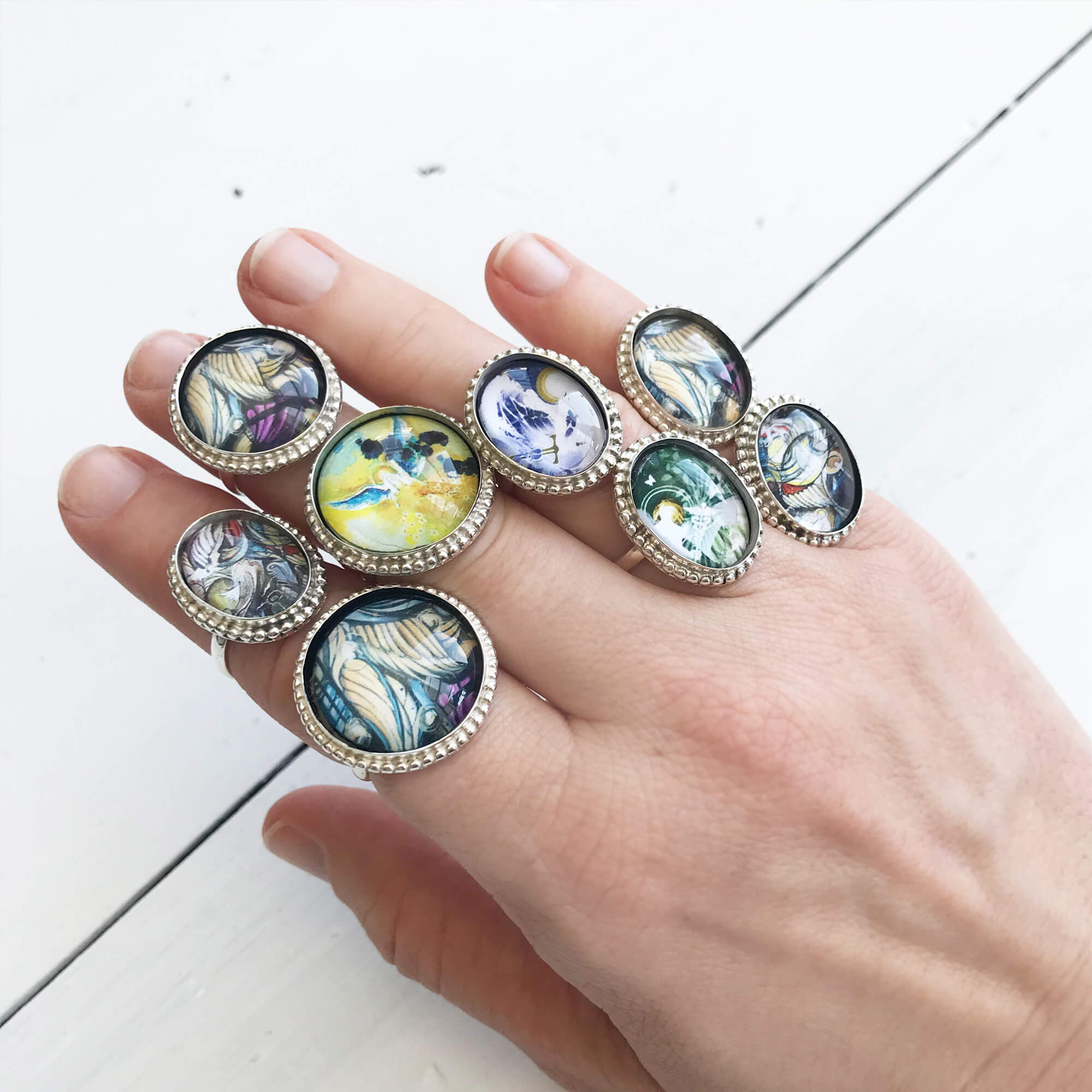 Limited edition silver angel rings - from $50