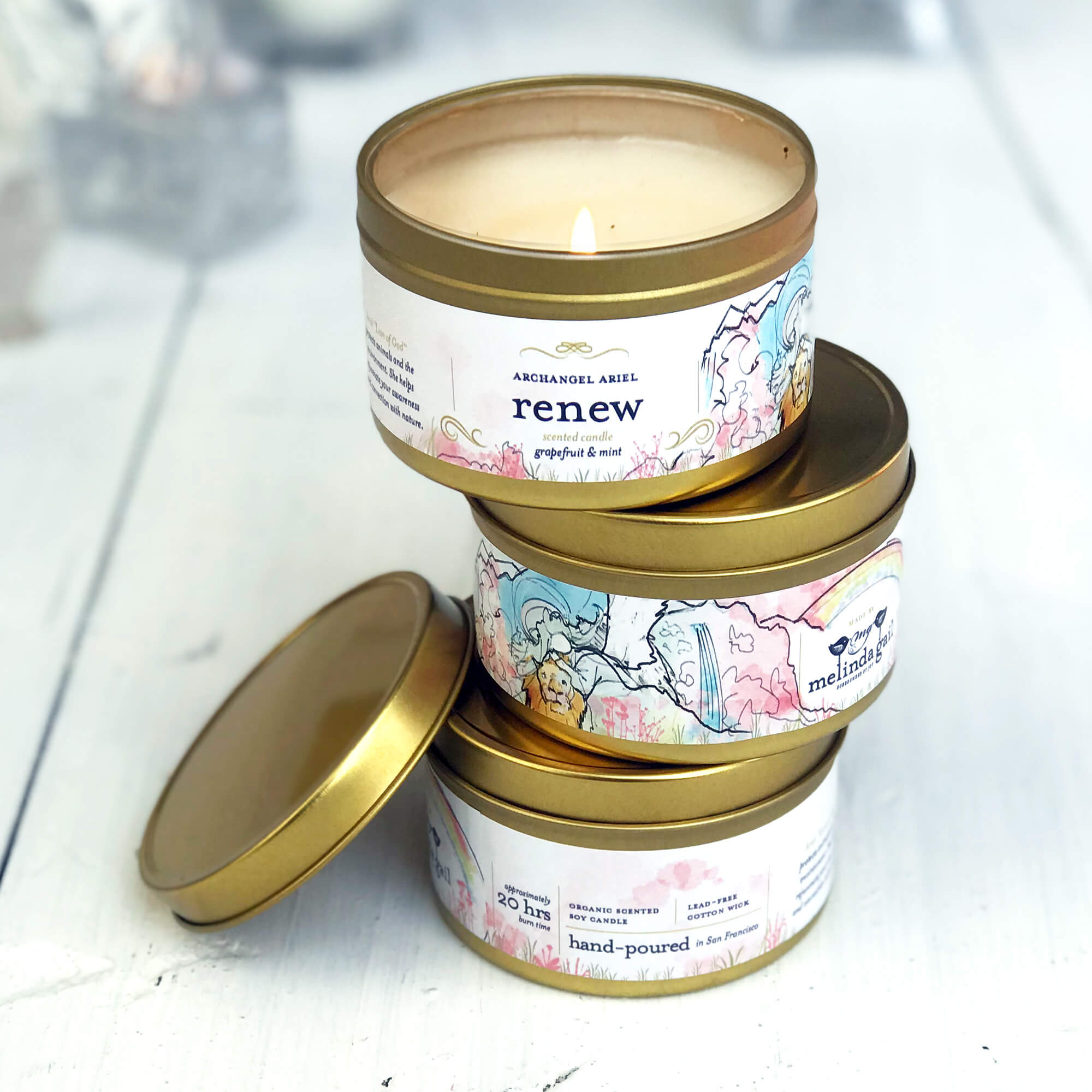 Renew grapefruit soy candle - $12