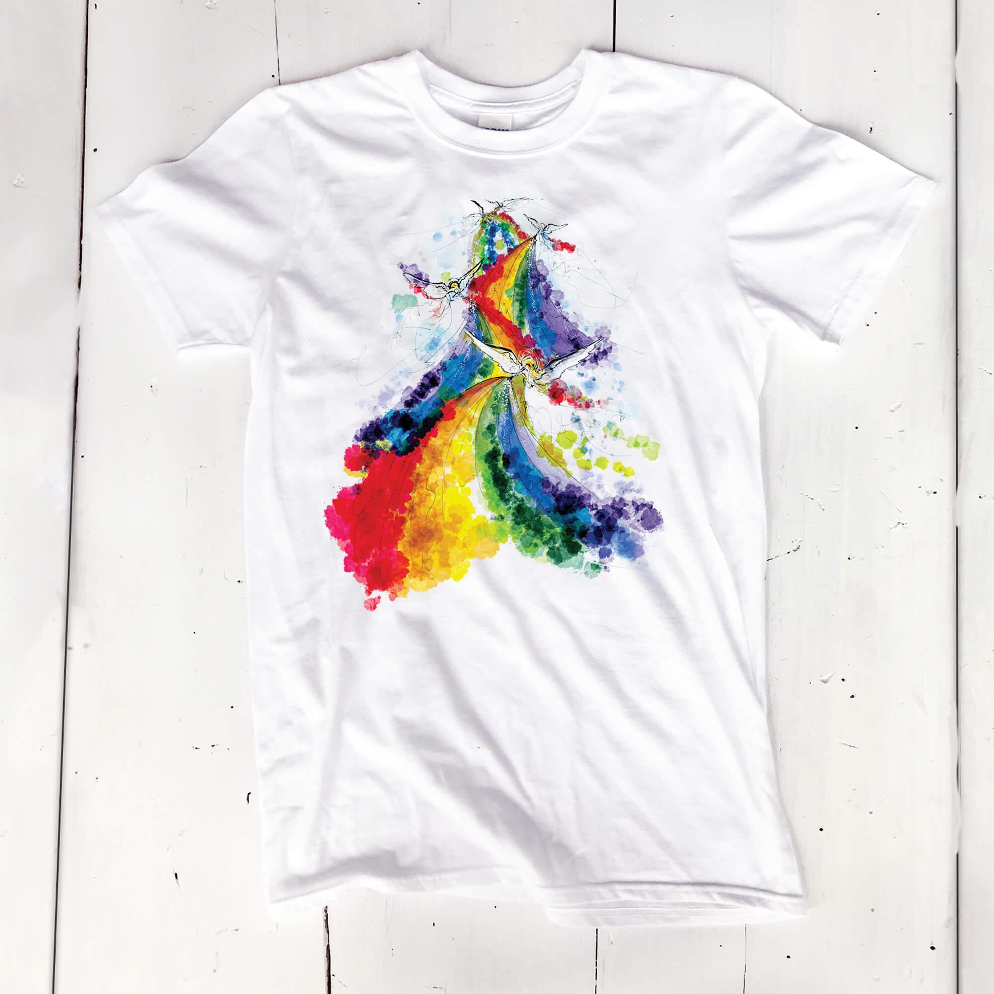 'Rainbow choir' unisex or women's tee - $30