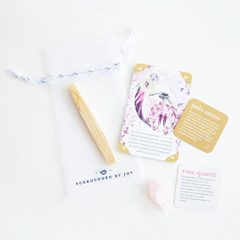 Angel Chamuel (love) rose quartz kit - $15
