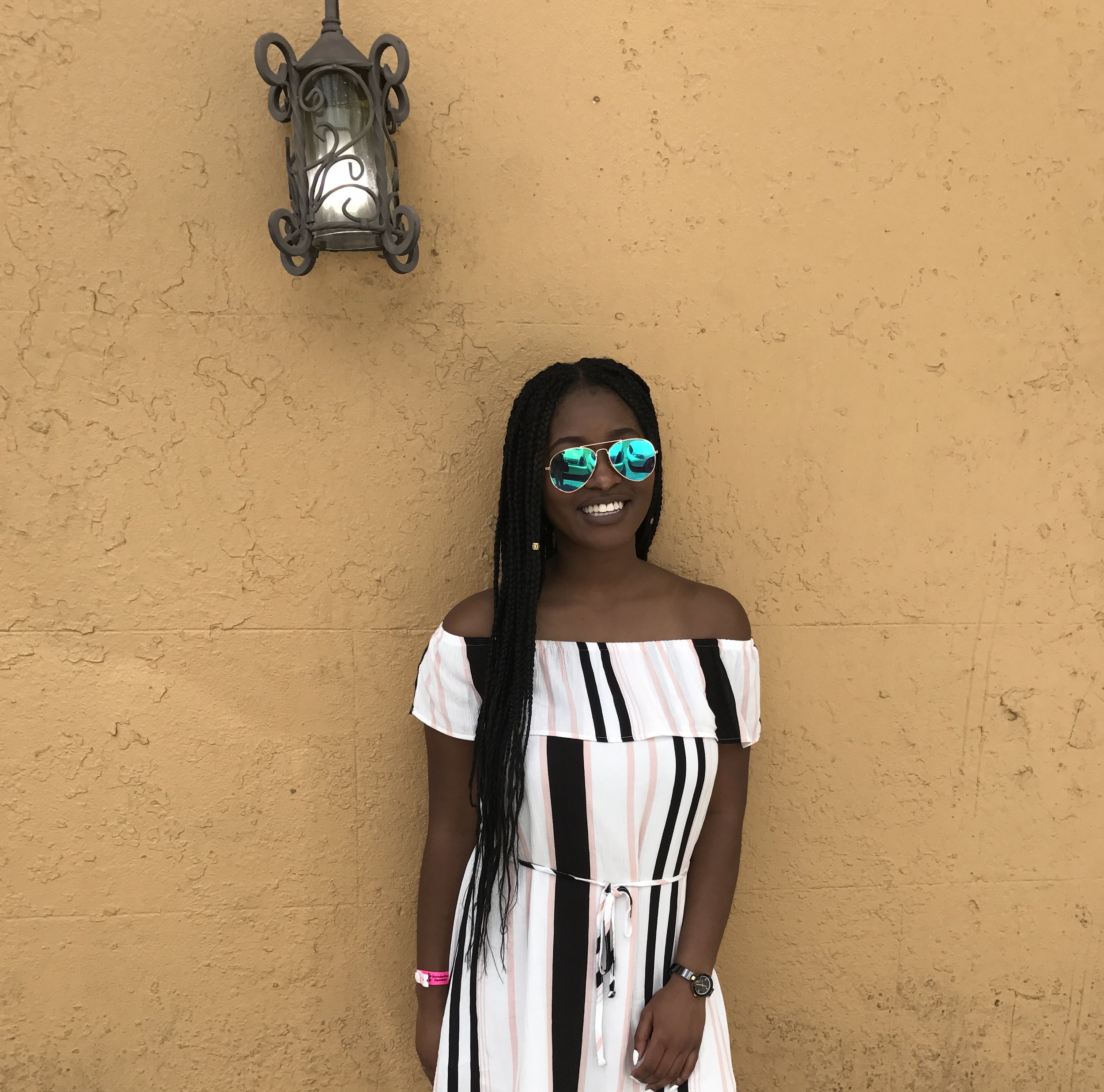 Dress : Cotton On   Sunnies : Forever 21   Watch : Anne Klein   Shoes  (not pictured): Birkenstocks