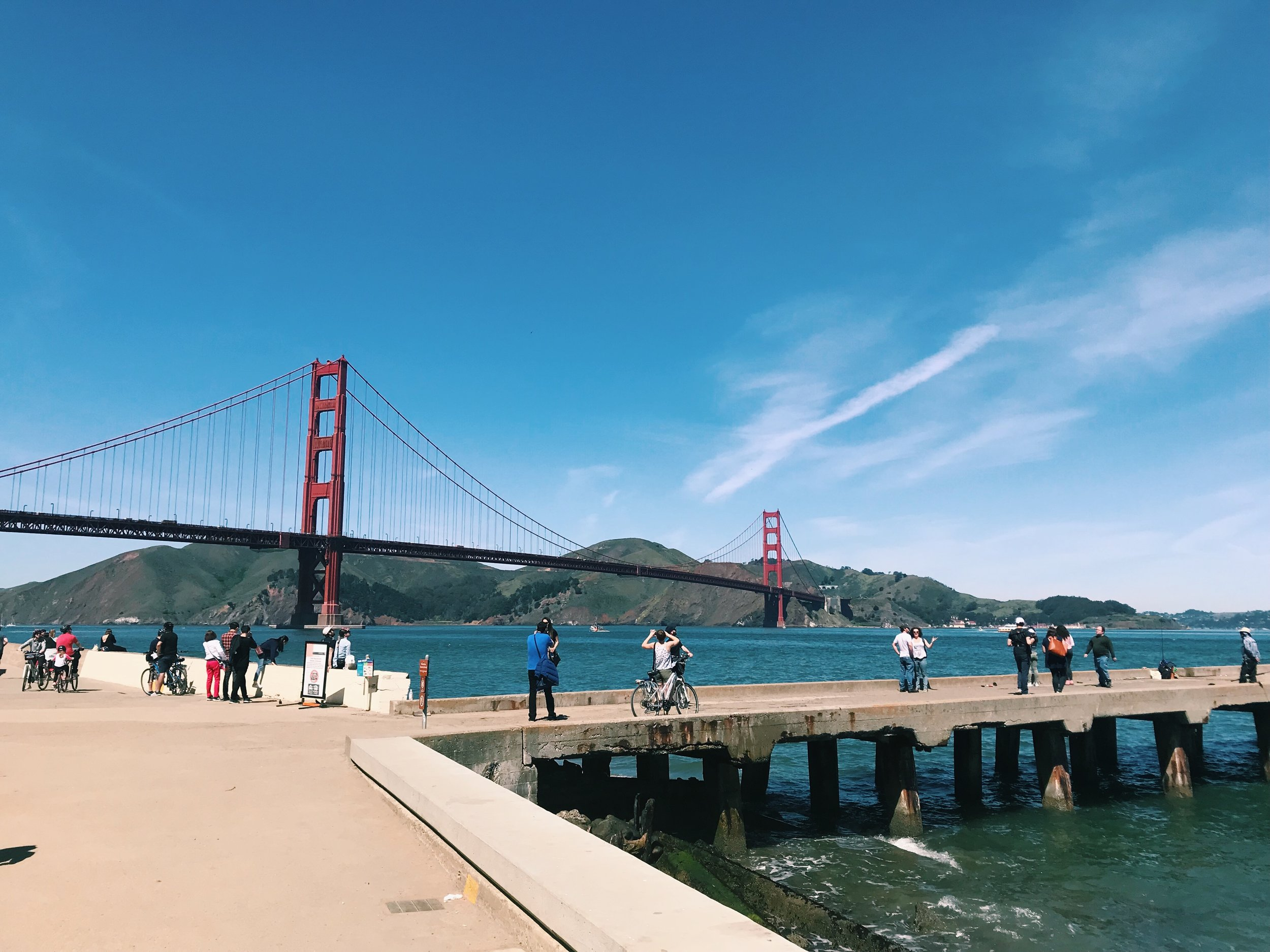 We actually biked on the bridge too, but I had to steal a shot before we got there.