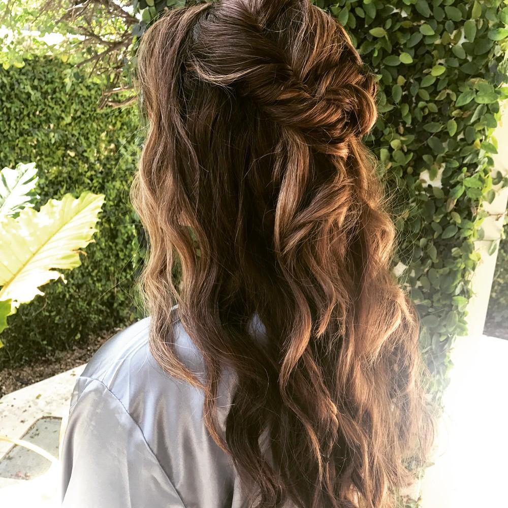 Brunette Mermaid Curls Bridesmaid Hairstyle.jpg