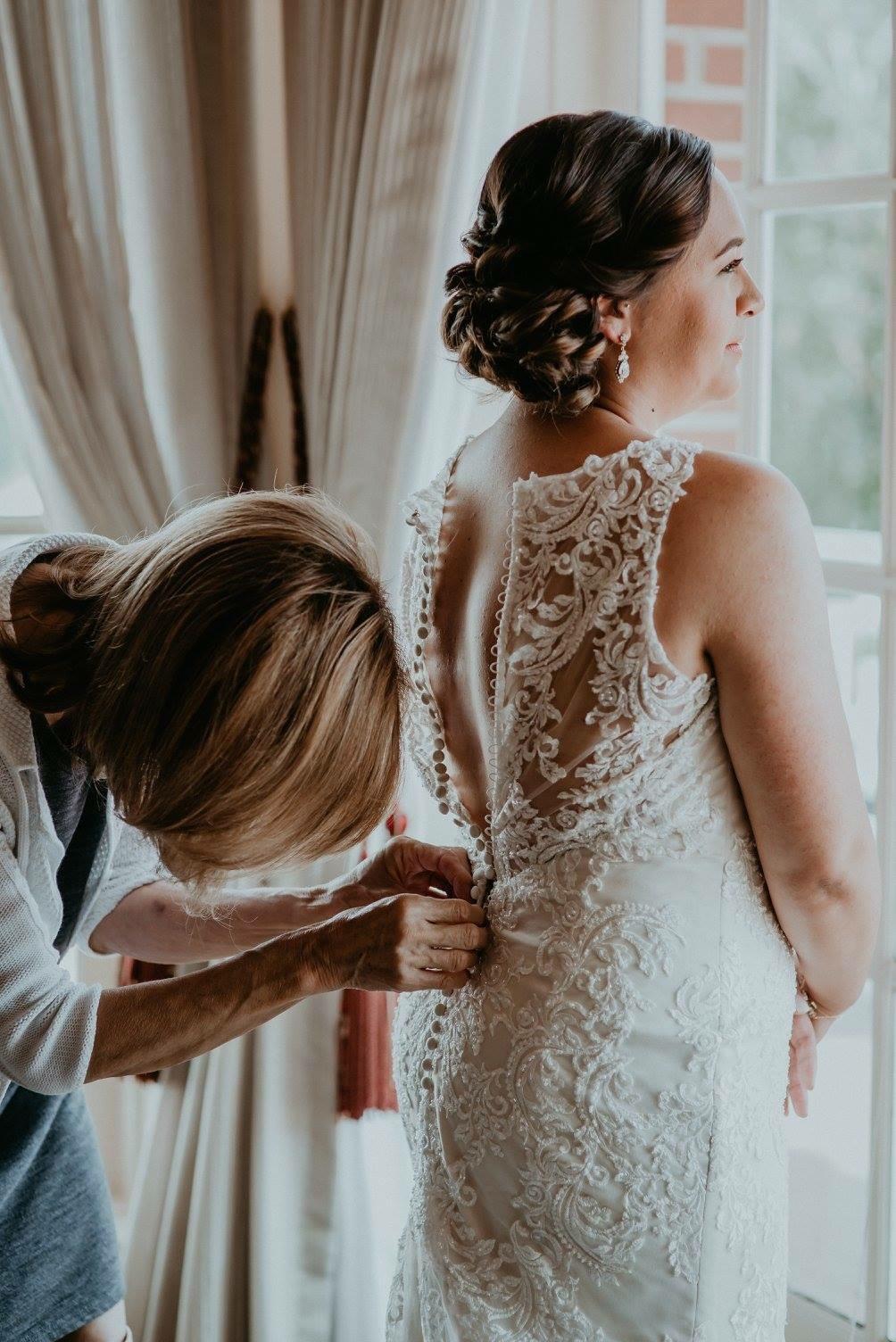 Brunette Bride Wedding Hair Updo.JPG