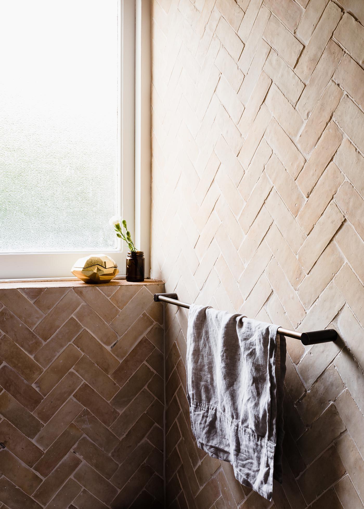 GABBE INTERIOR TILESOFEZRA Georgia Ezra Home Feature shower Mosaic Moroccan Bejmat feature Bathroom tile.jpg