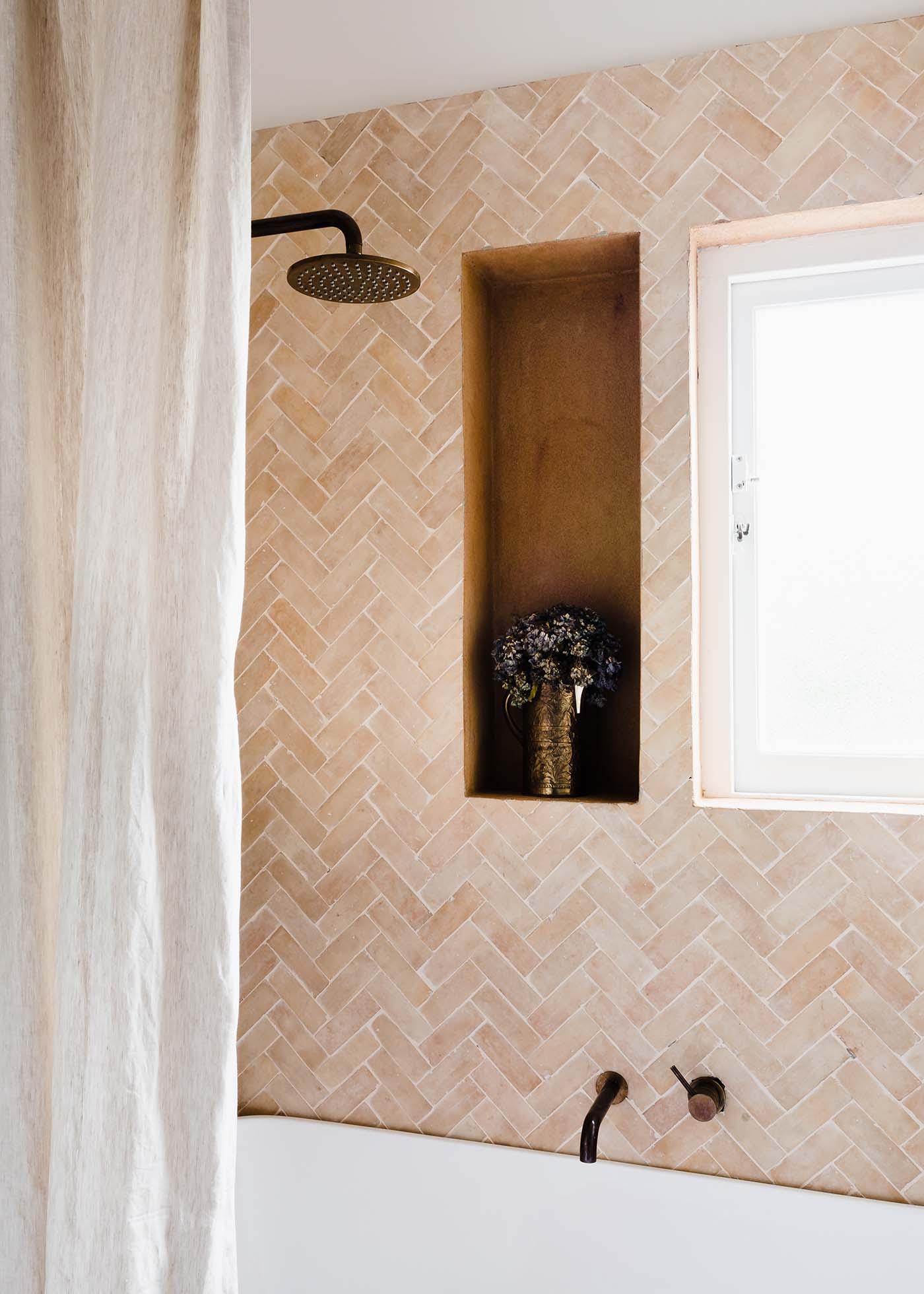 GABBE INTERIOR TILESOFEZRA Georgia Ezra Home Feature shower Mosaic Moroccan Bejmat feature wall tile.jpg
