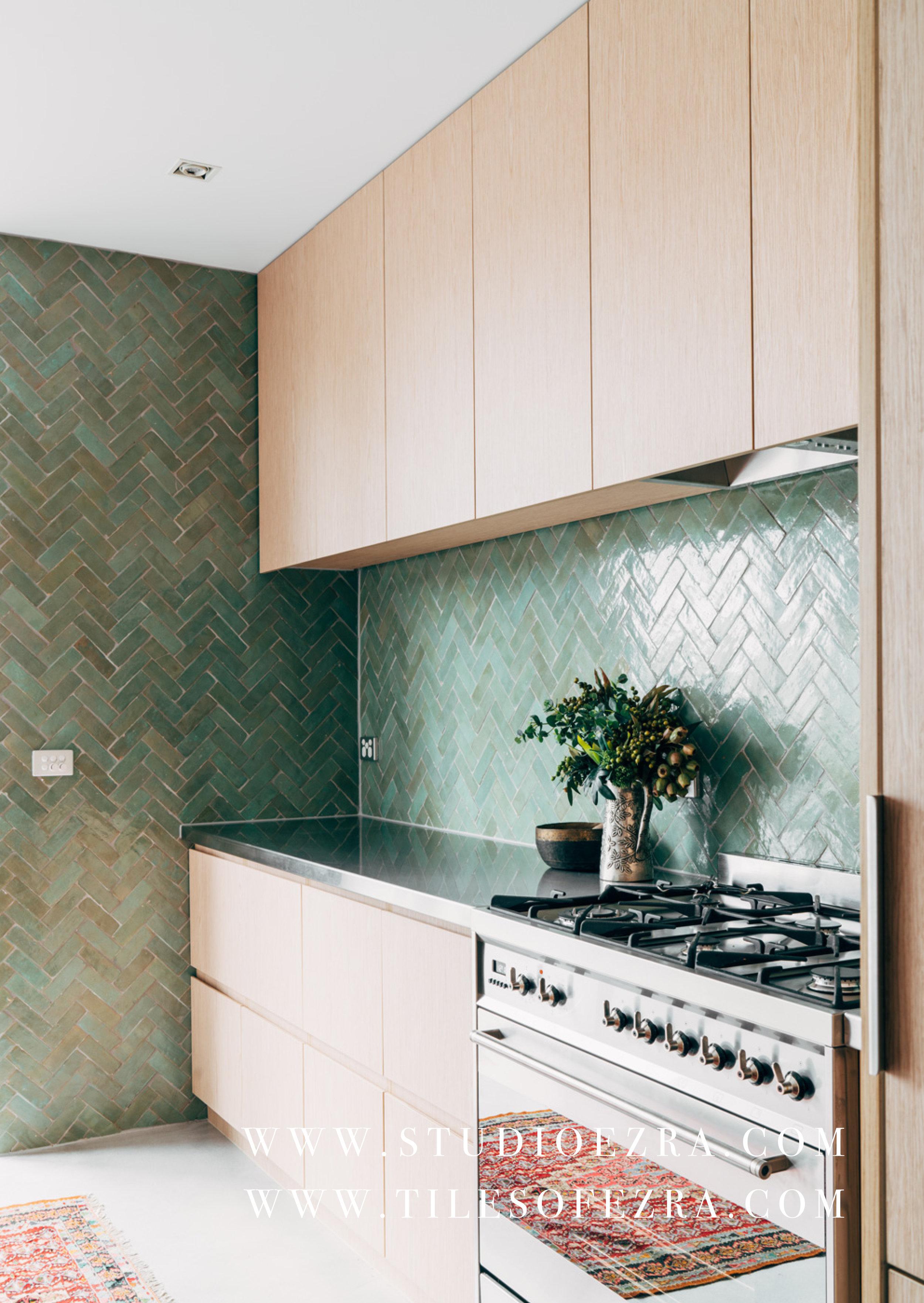 Studio Ezra design_Tiles of Ezra FL006 Aqua Moroccan Bejmat splashback B.jpg