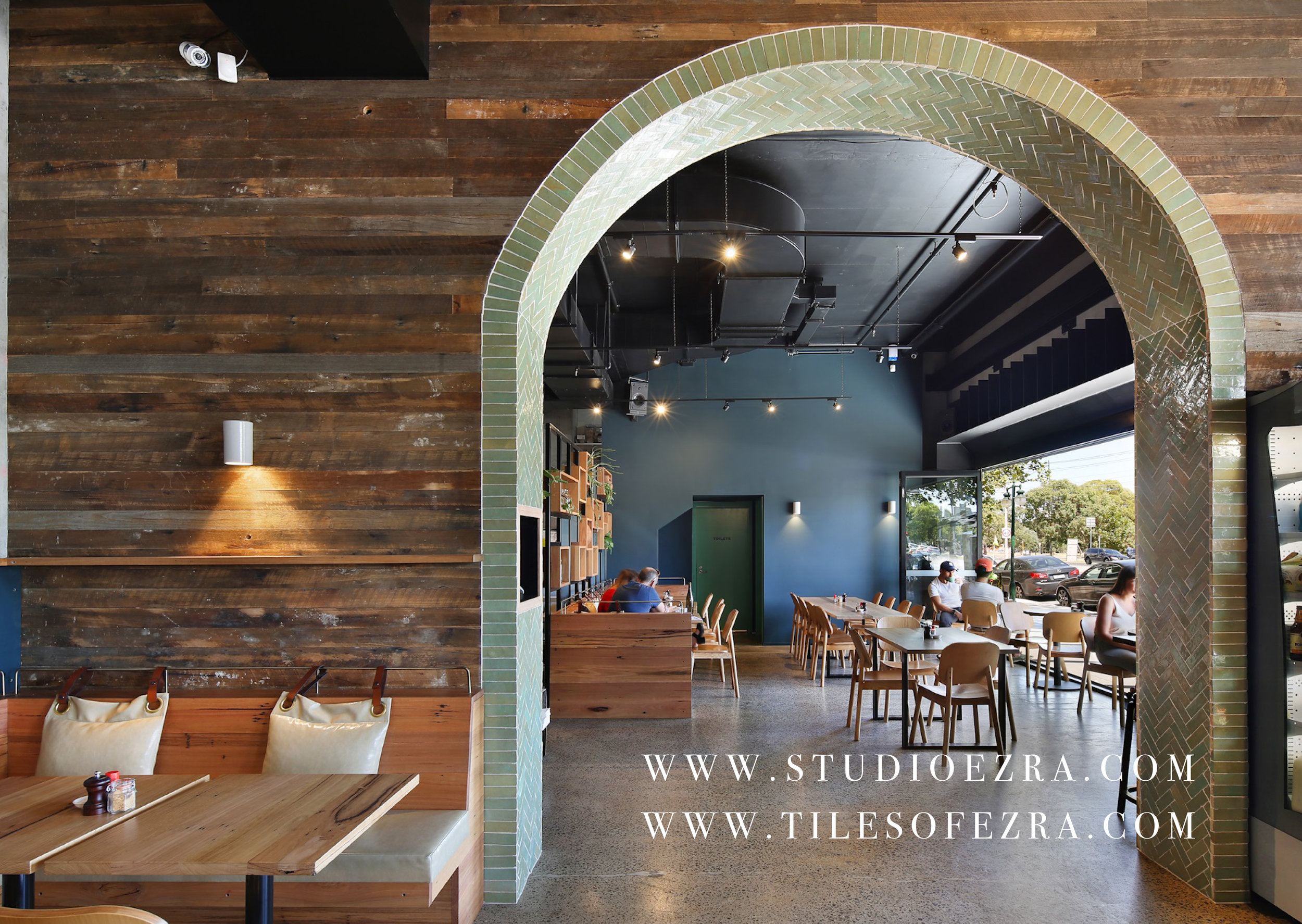 Tilesofezra FL006 Aqua The staple cafe Moroccan tiles 7.jpg