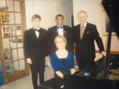 Dr. James Johnson and his devoted piano students. 2012