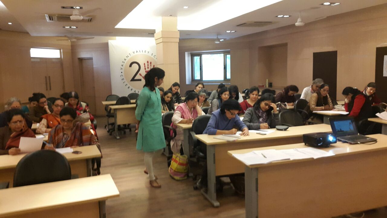 A session with parents.