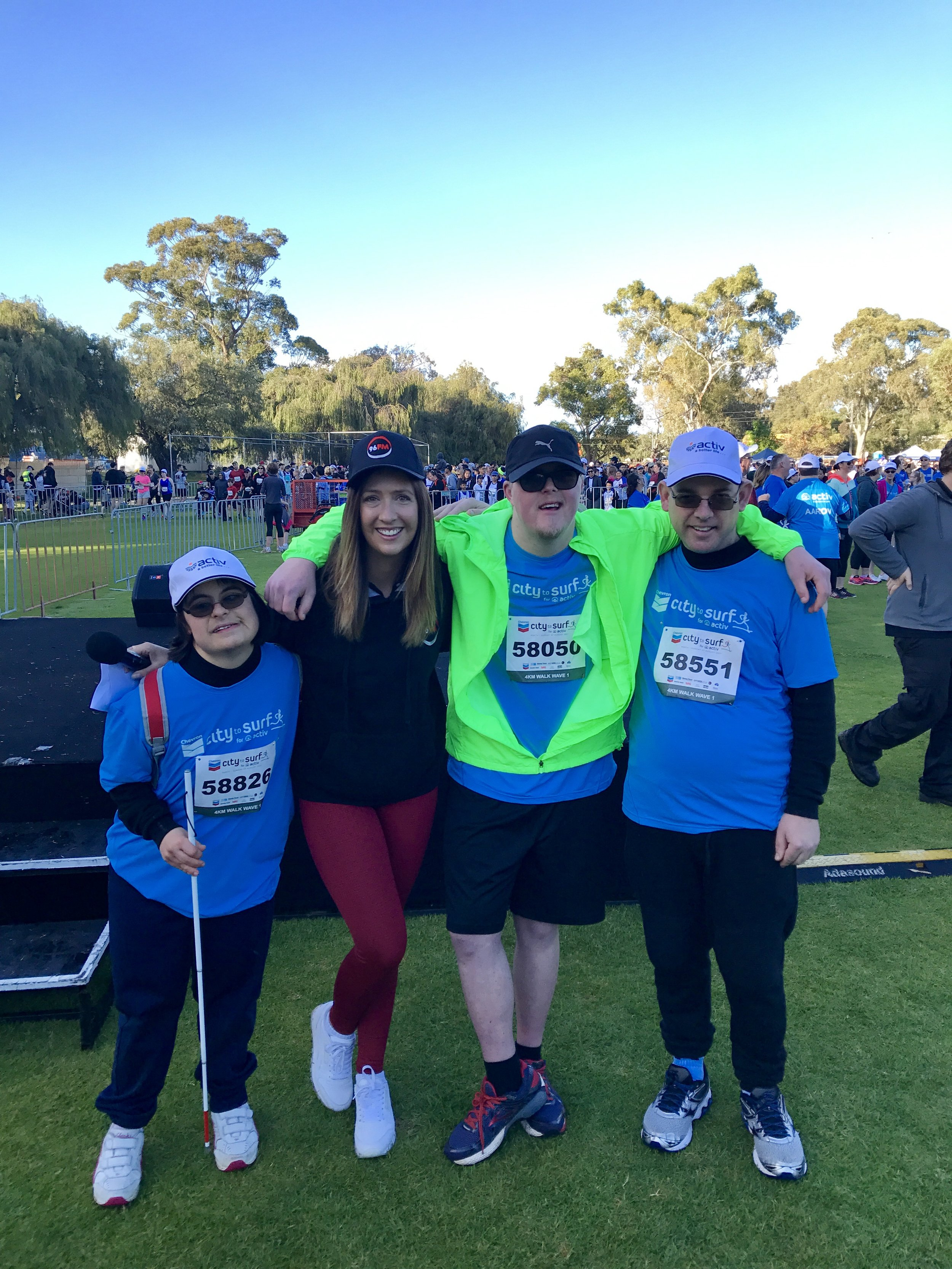 Sarah, me, Jack and Mark at the 4km starting line.
