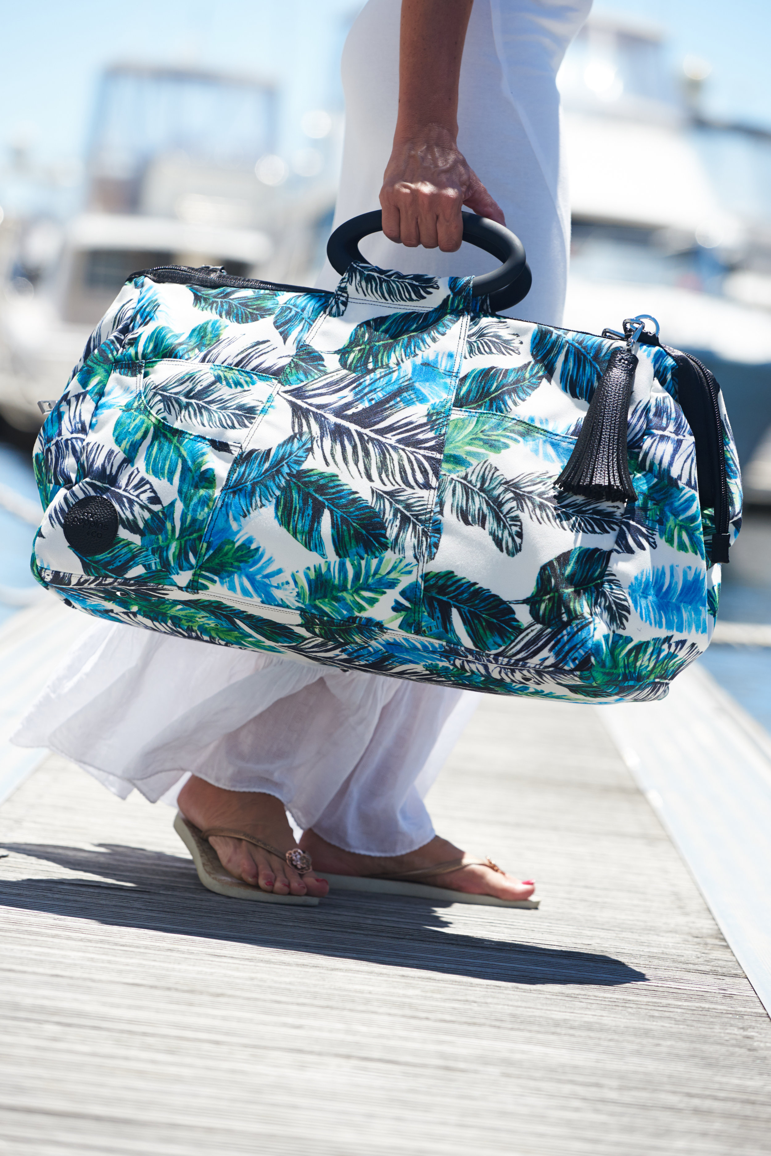 "Mr Poppins+Co Kahoots Leisure Bag in ""Feather"".  Other designs and matching towels available."