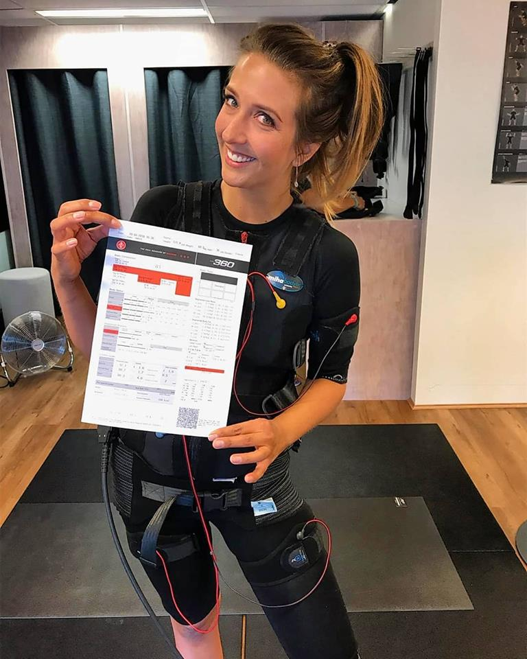 Don't be put off by the wires, 20Fit is a super-accessible way to train.  With this special, your body scan (pictured) is included to help track your progress.
