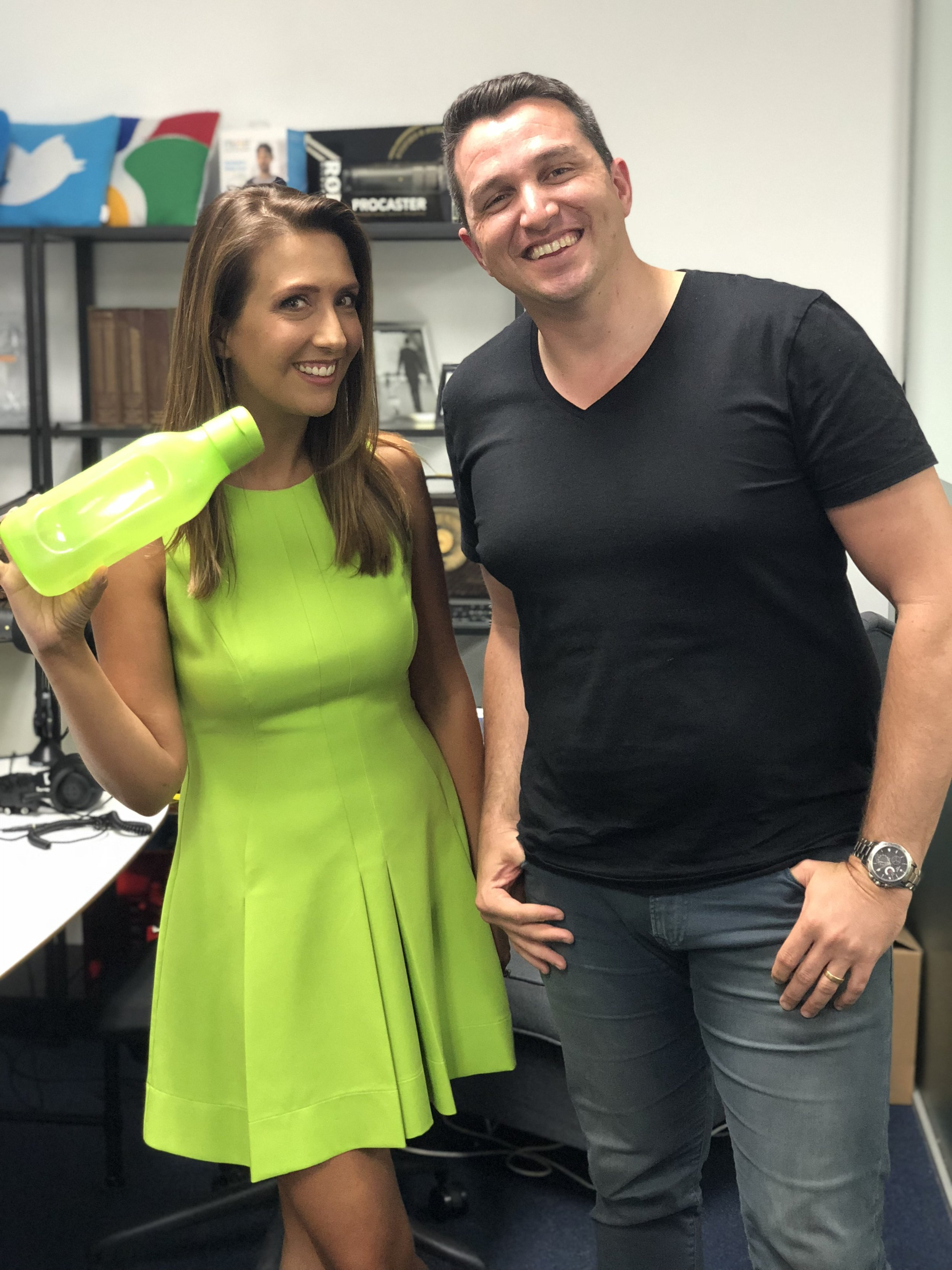 With Matt Hanham, host of Amplify Your Business at the Team Visible Studios, Leederville.