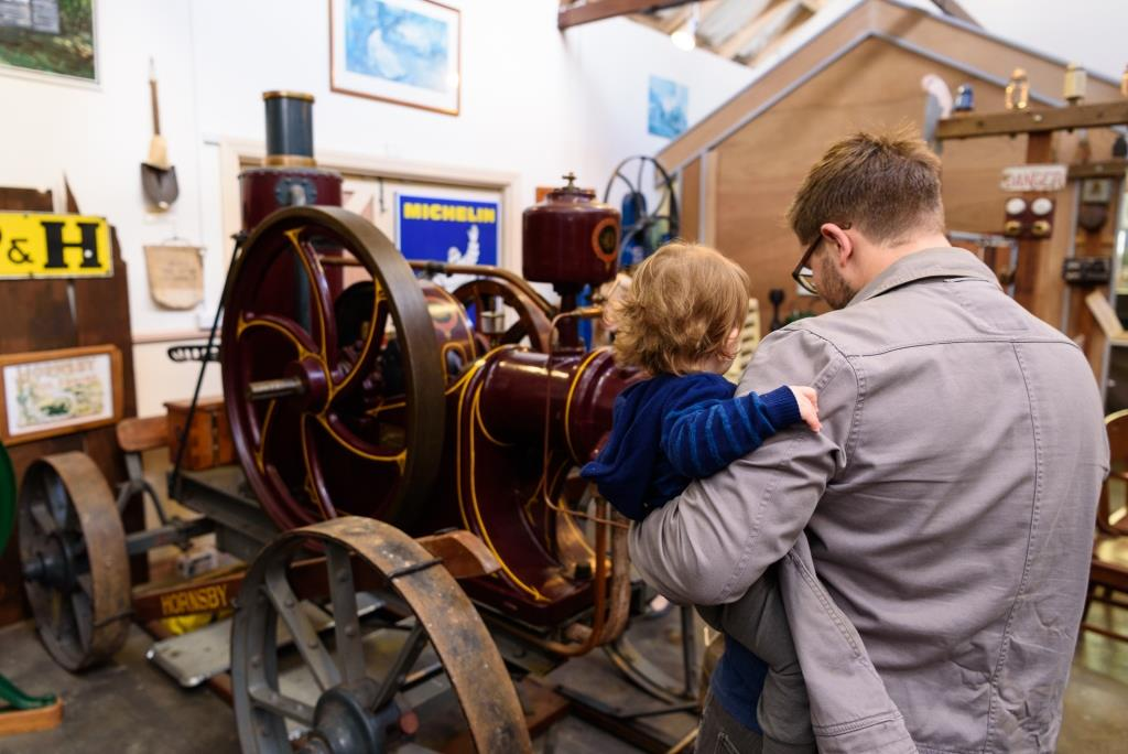 Kids and dads' get a kick out of the Bert Tyler Vintage Machinery Museum