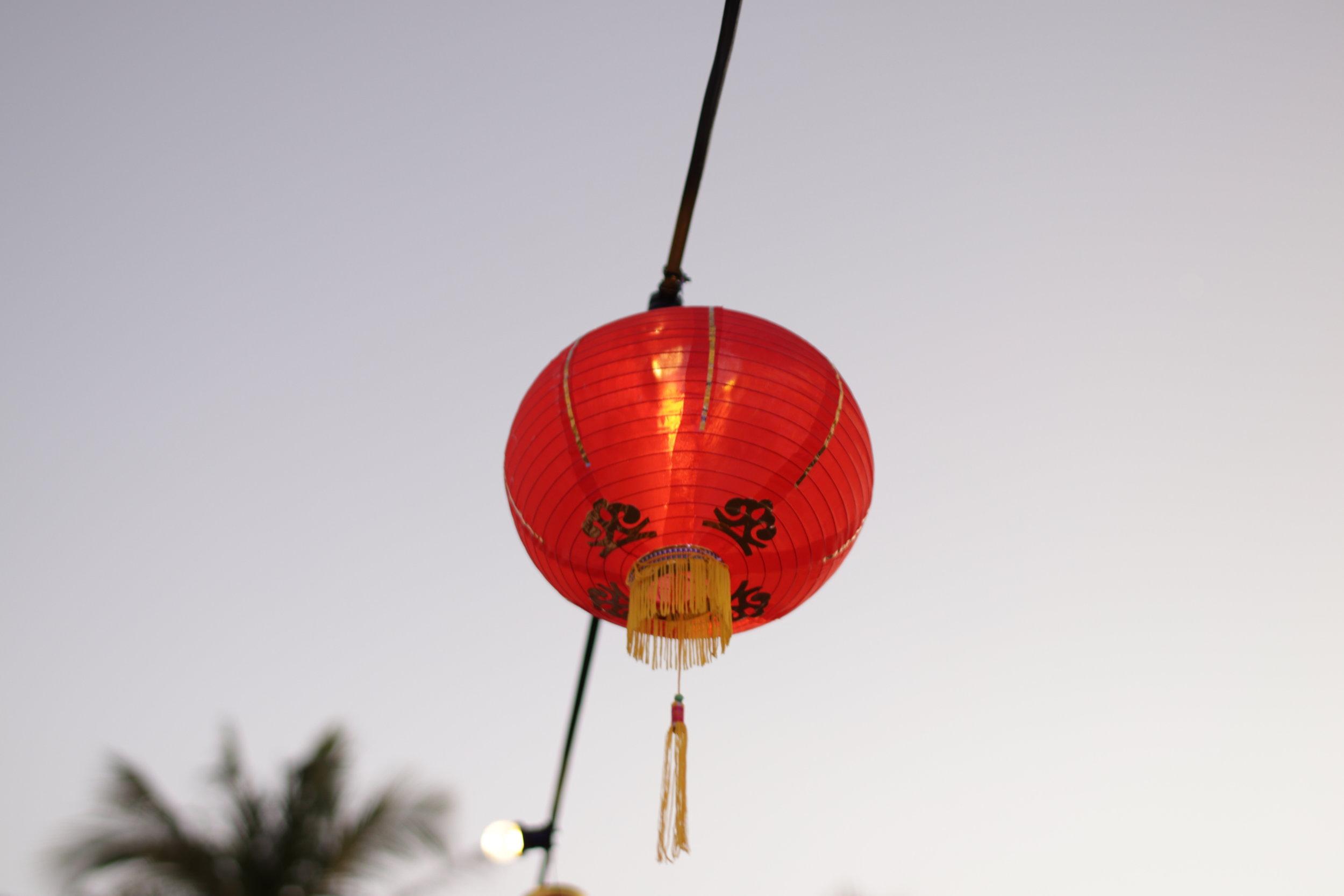 Chinese lanterns at The Pearl Harvest Yum Cha. Photo: Brandon Stirrup