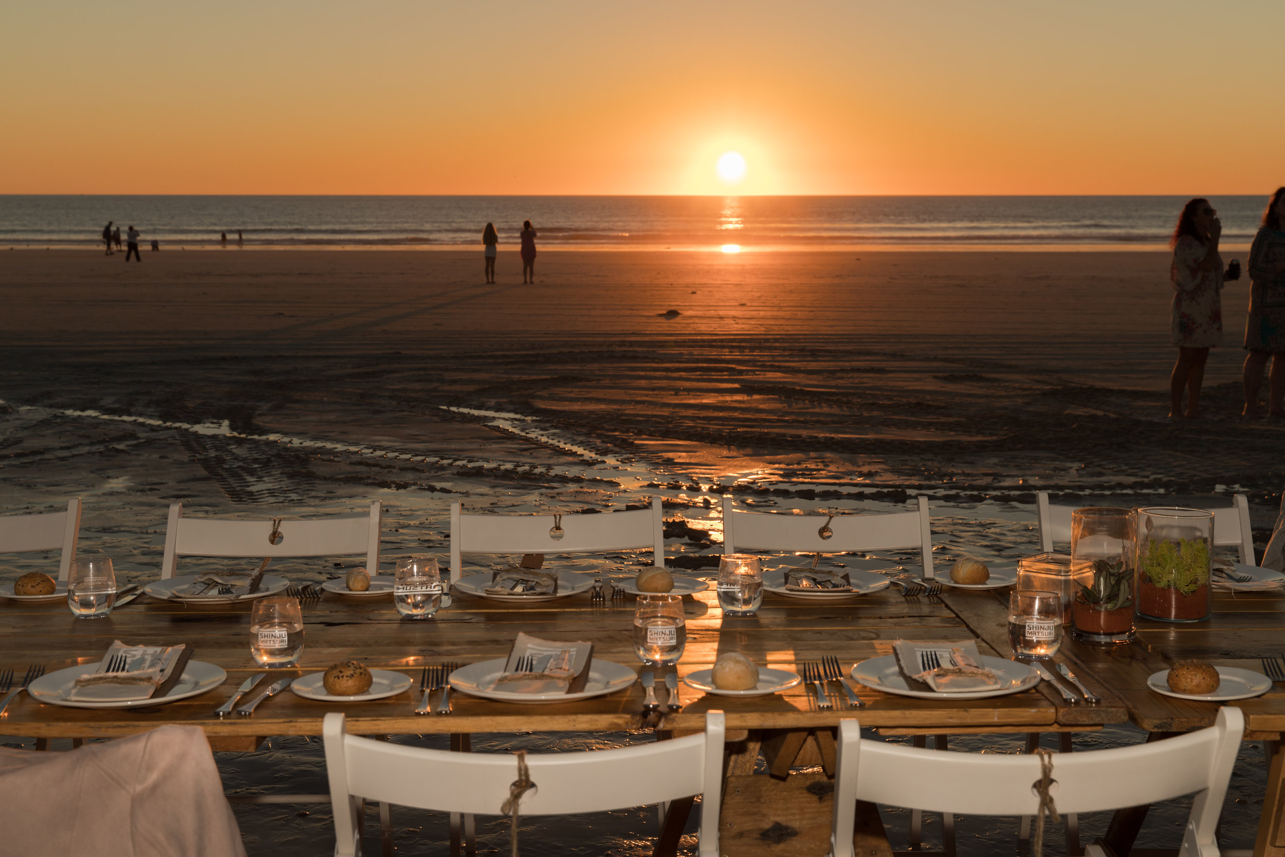 Broome's Sunset Long Table Dinner on Cable Beach is a bucket list event for many. Photo: Paula Jennings