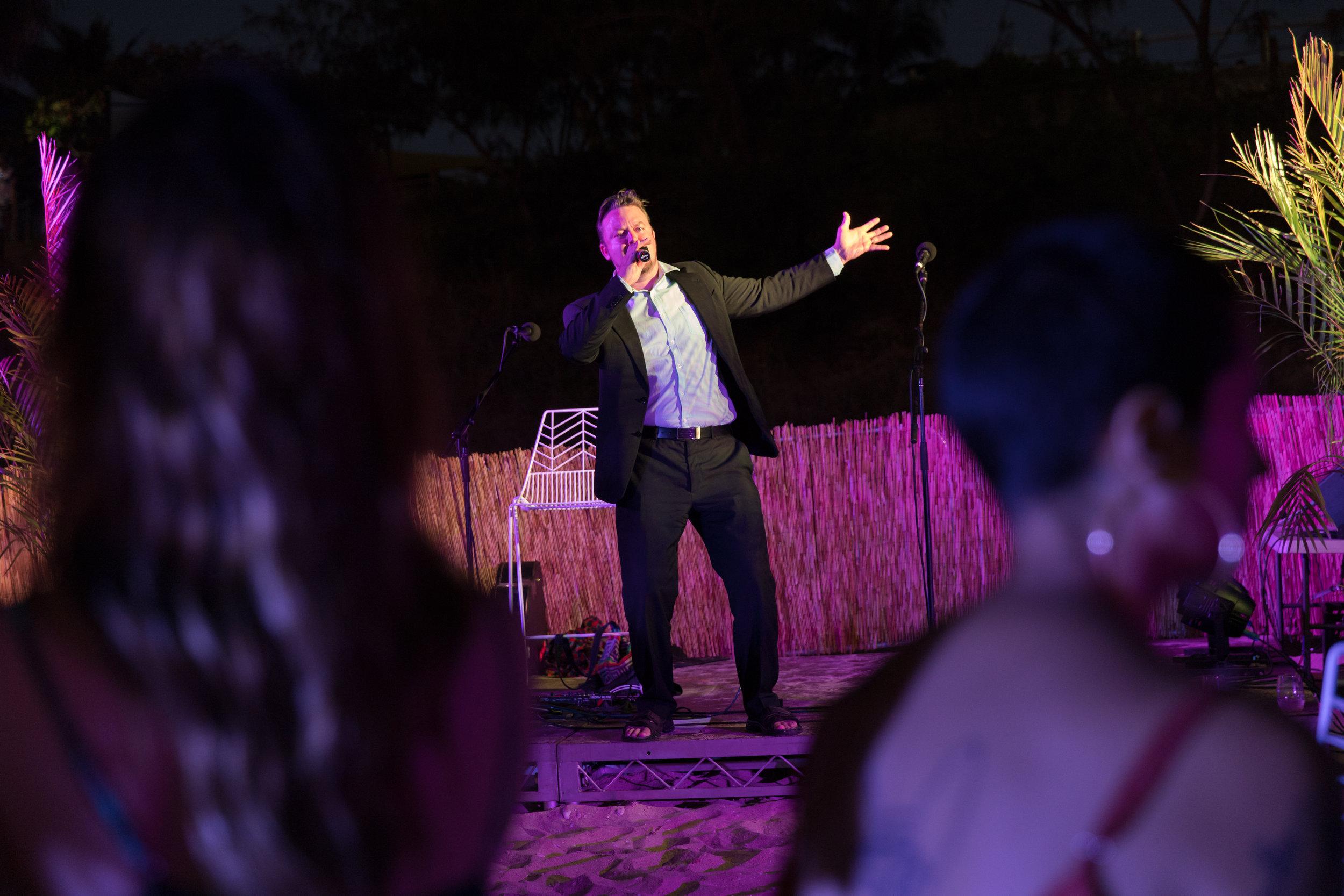 Paul O'Neill of WA Opera performs at the Sunset Long Table Dinner Photo: Pamela Jennings