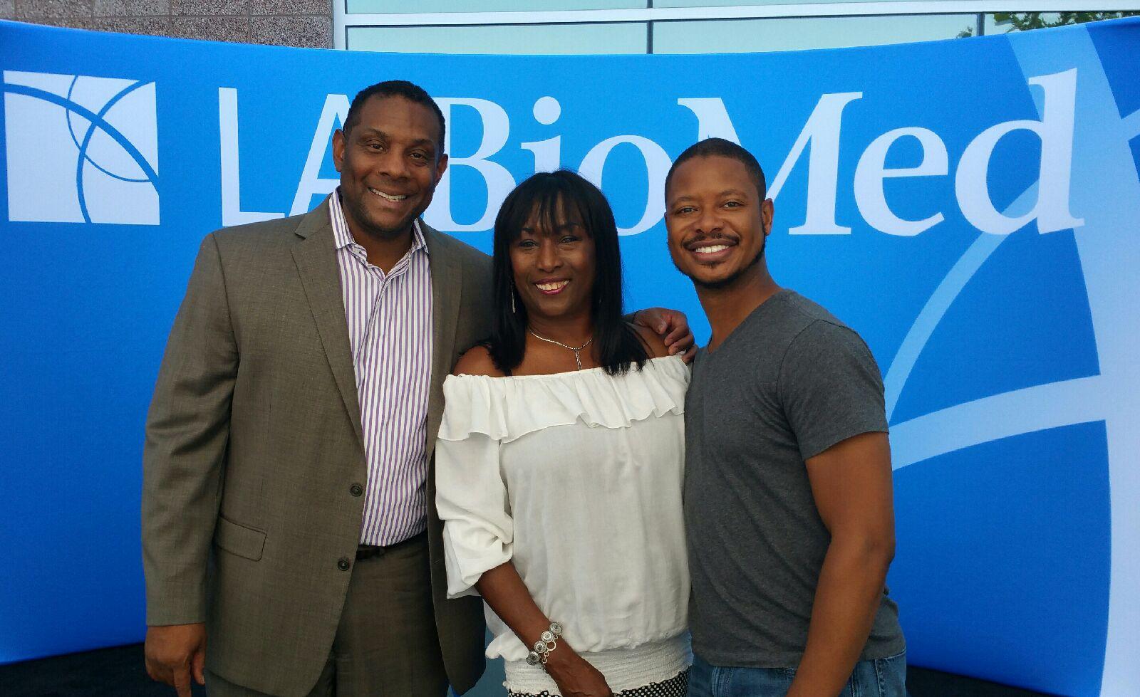 Andre Dawson, KiKi Shepard, and Arjay Smith at Endari Celebration.