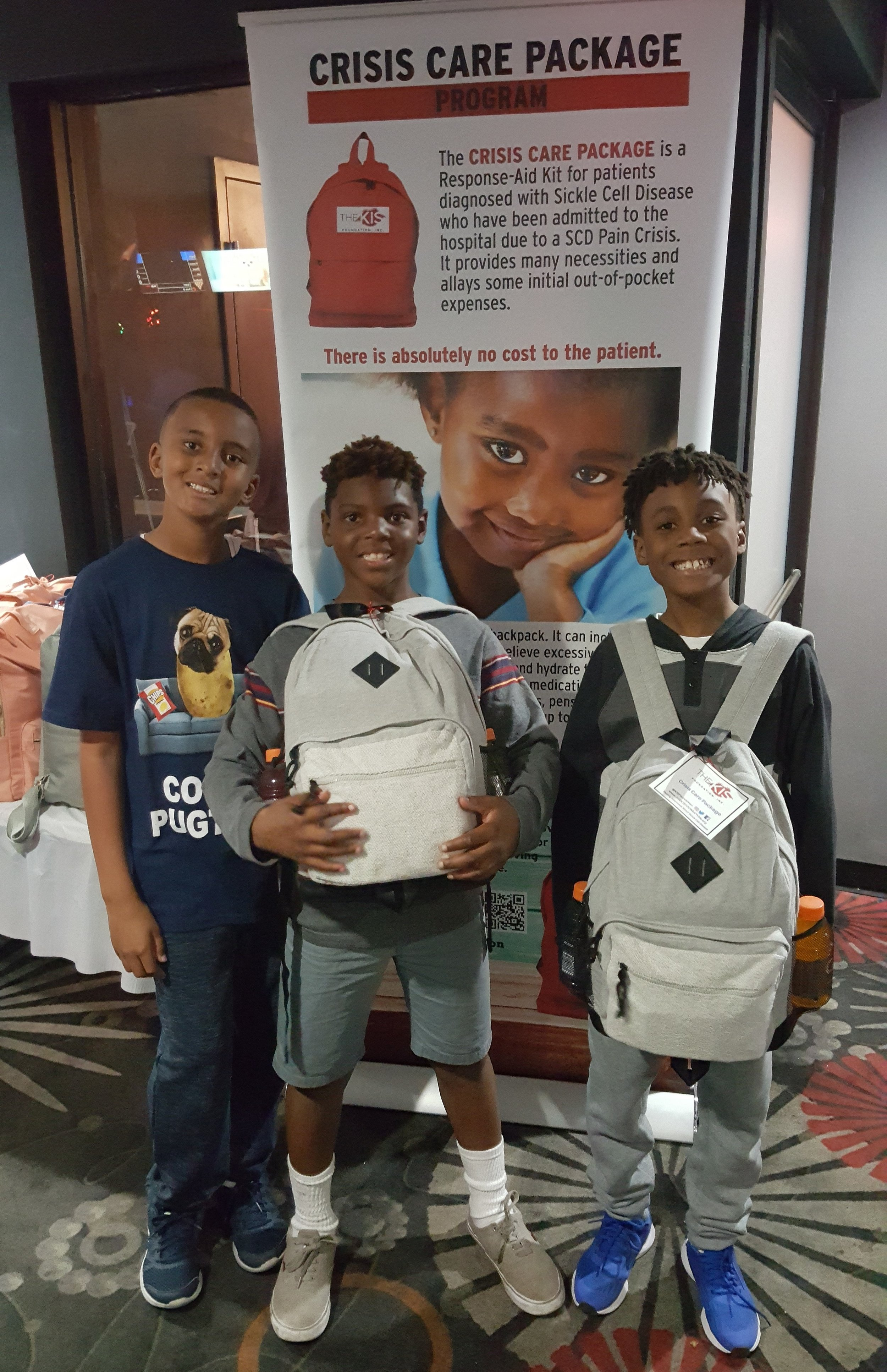 All SCD Patients received there very own Crisis Care Package at the event. - This Response-Aid Kit is housed in a backpack and designed to assist a patient before, during, and after a Sickle Cell Crisis.