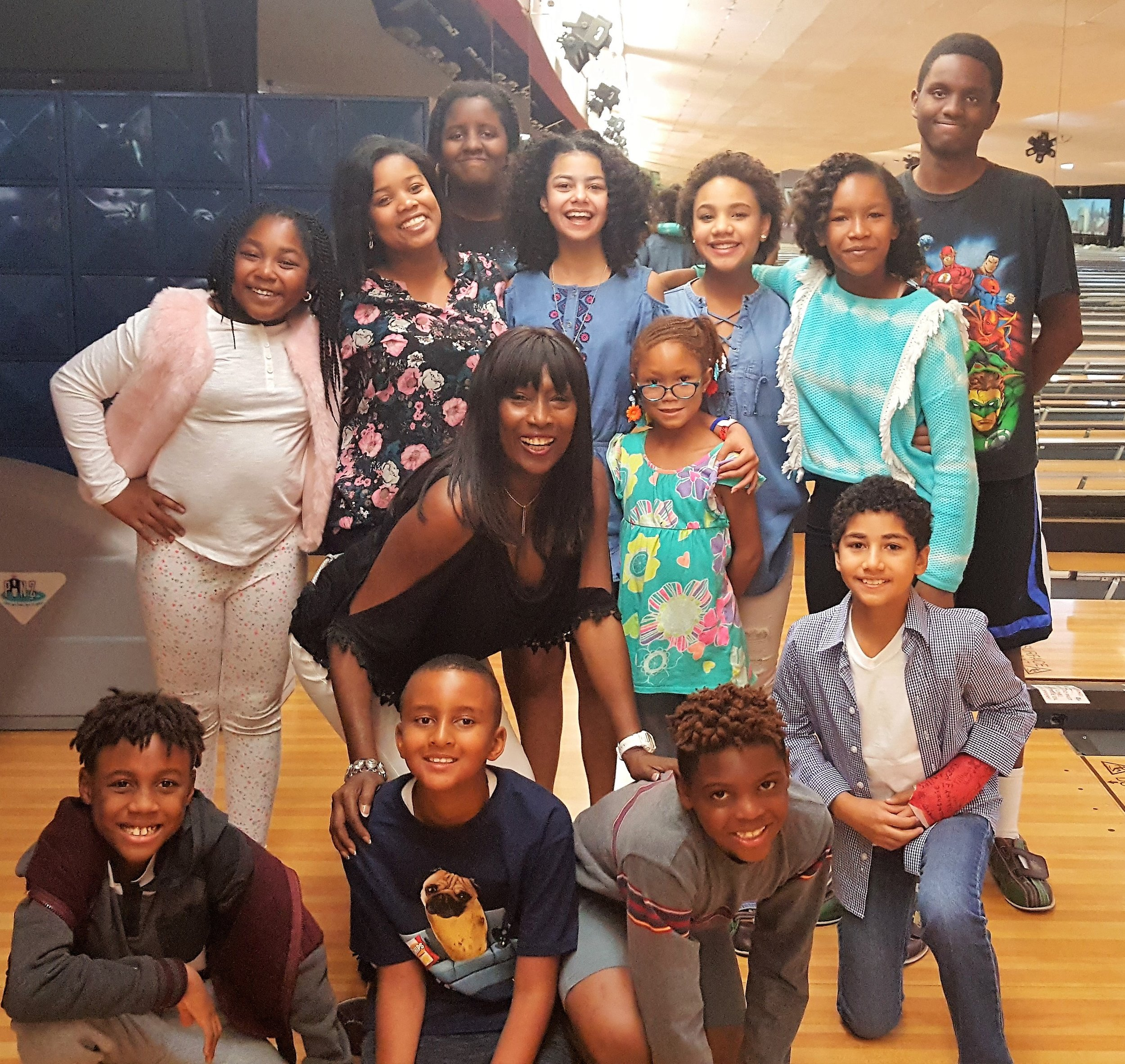 Our Day of Play included an afternoon of joy, laughter, food, games and bowling. - We were joined by child actors: Jessica Mikayla Adams, Journey Slayton, Jillian Estell, Angelina Sinclair, and Anderson Slayton.