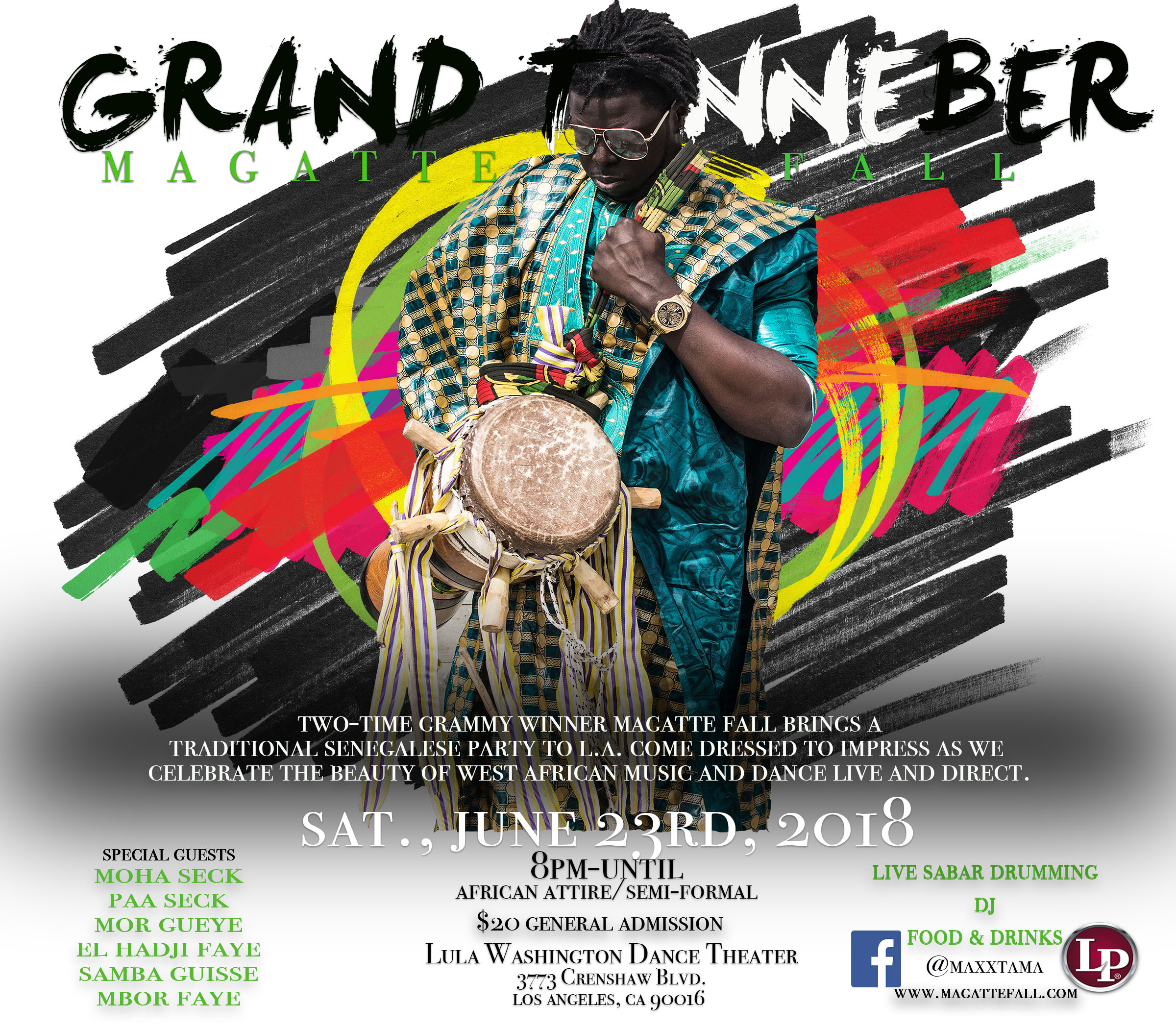 GRAND Tanneber '18 - 2-time Grammy Winner and credited percussionist for