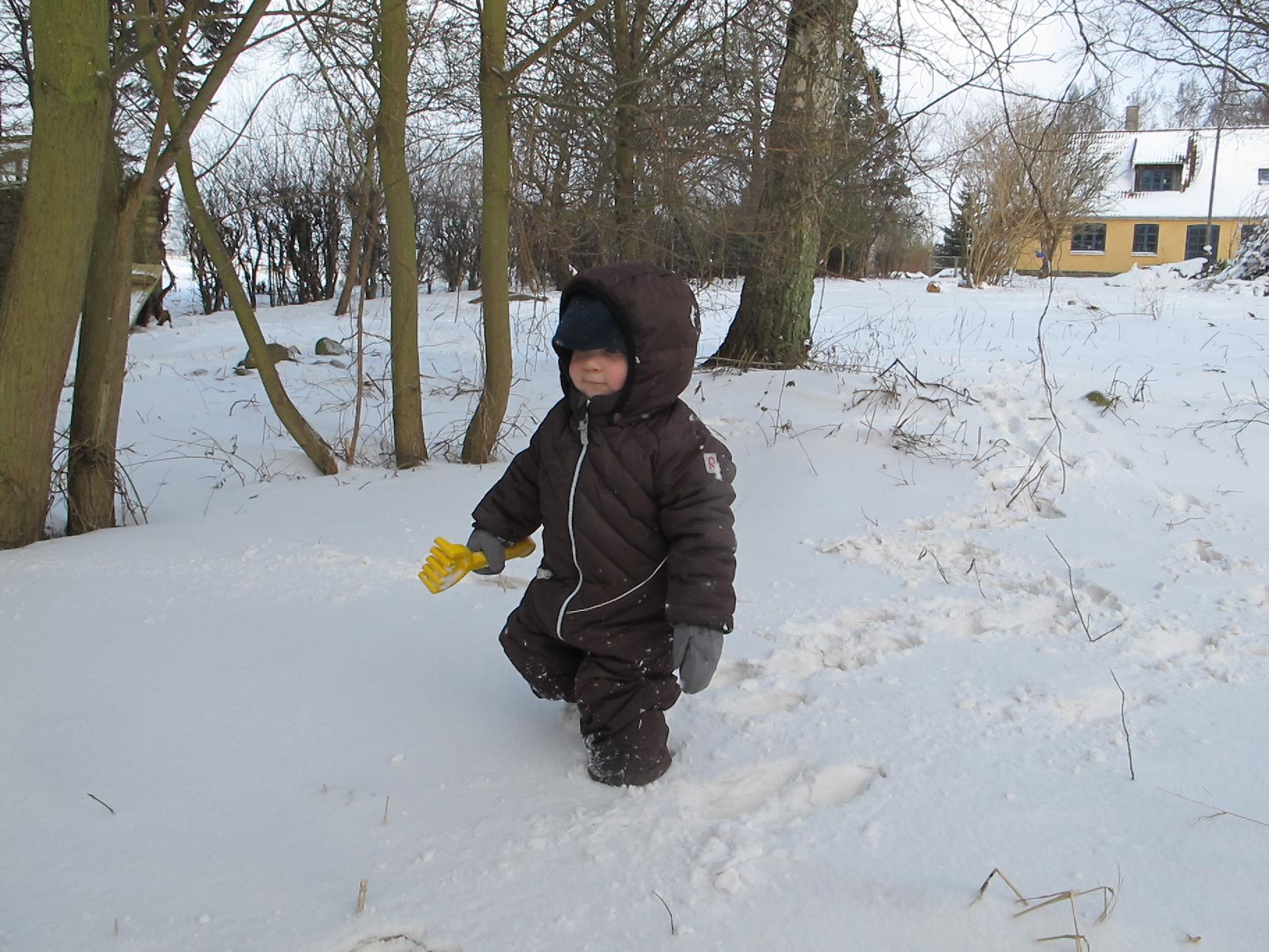 En glad Storm nyder snevejret - og friheden.