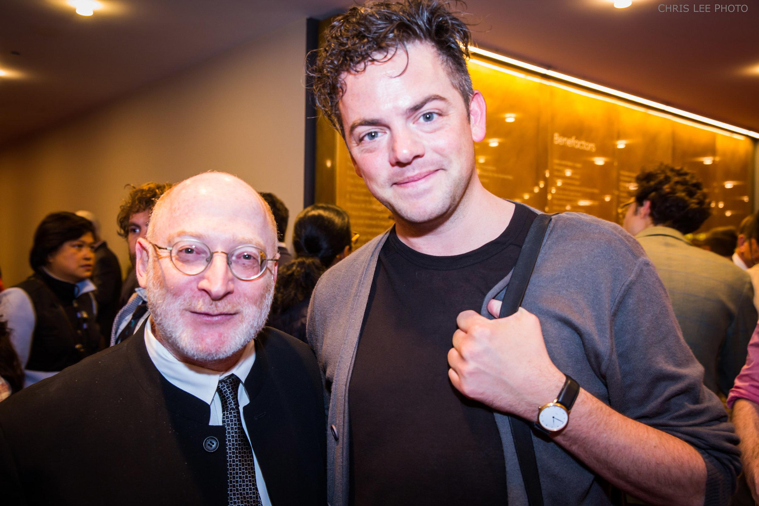 Aaron Jay Kernis (left). Photograph courtesy New York Philharmonic, Chris Lee Photographer.