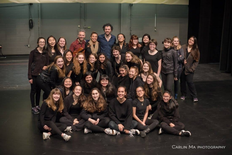 Valérie and SFGC's Premier Ensemble with The Knights conductor Eric Jacobsen and composer-violinist Colin Jacobsen (who also played with us last Spring at Yerba Buena Center for the Arts!)