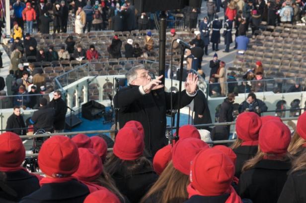 Ian conducting SFGC and SFBC at Barack Obama's 2009 inauguration.