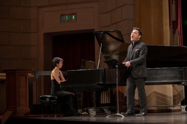 Nicholas Phan and Taylor Chan perform excerpts from Les Heures Claires by Nadia Boulanger. Photo credit: Benjamin La