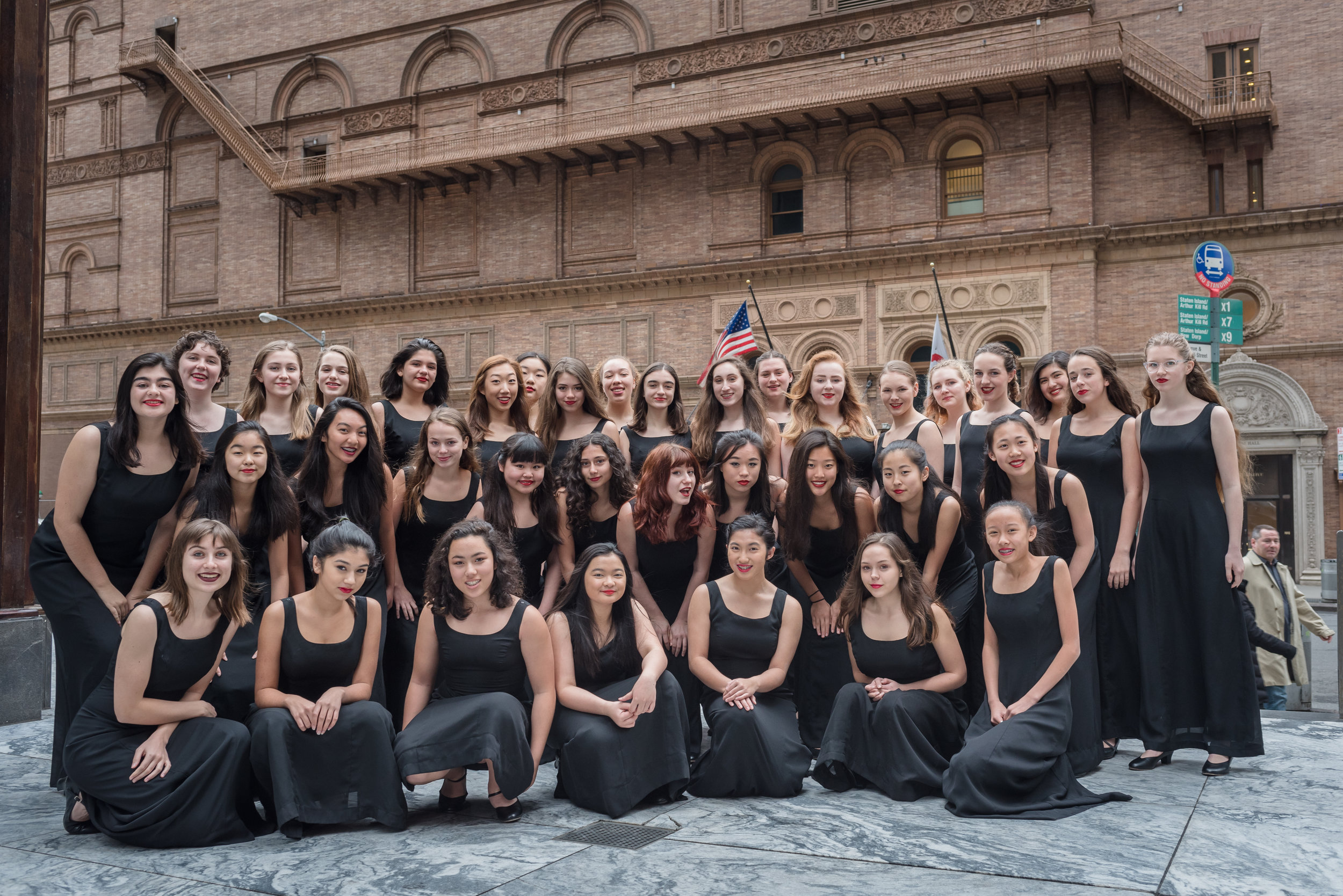 The five-time GRAMMY Award-winning San Francisco Girls Chorus at Carnegie Hall.