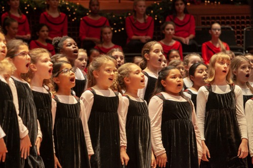 "Chorus School members at last year's ""Holidays at Davies."""
