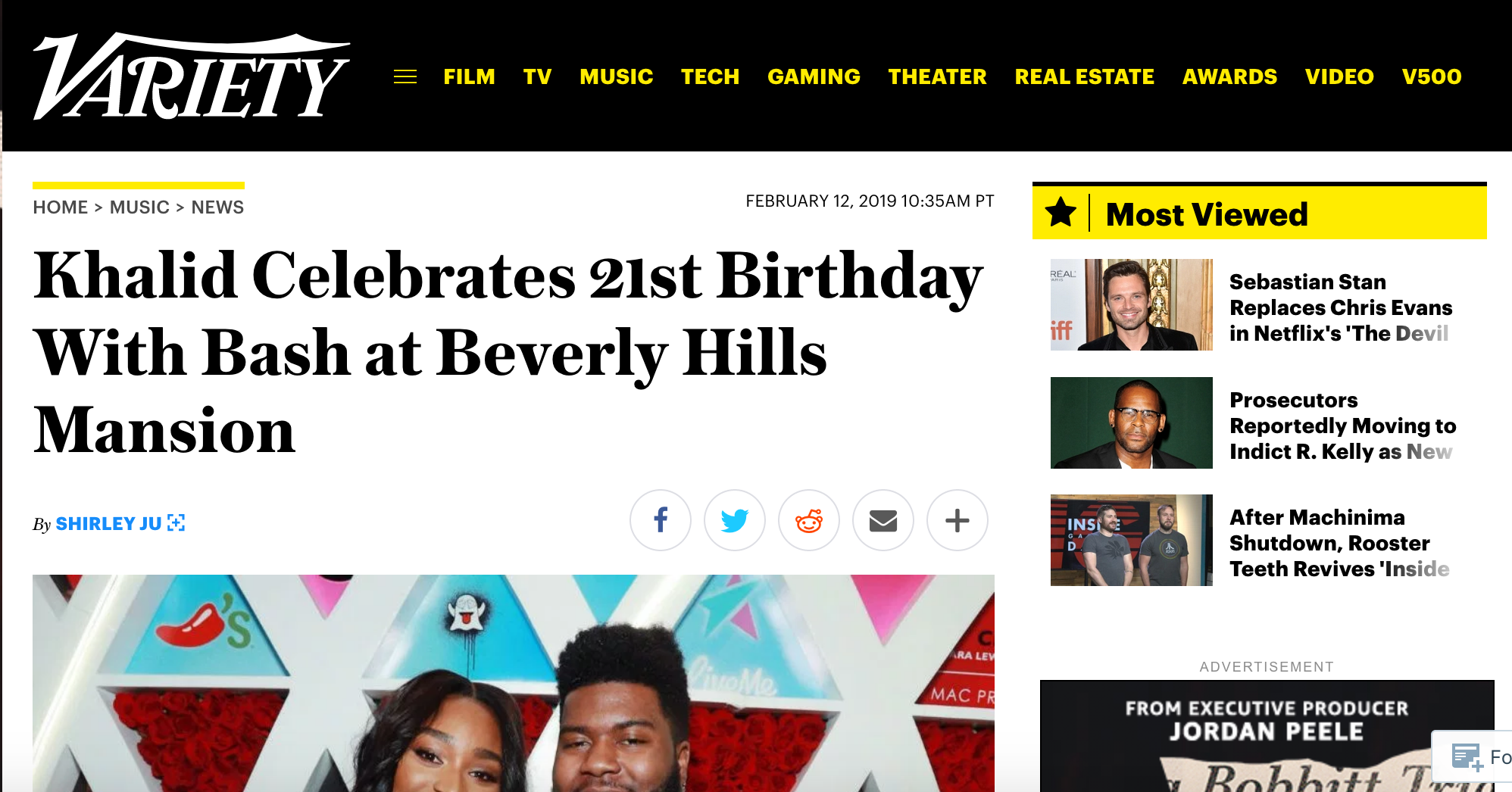 variety: B-Hen spins Khalid's 21st birthday bash (FEATURE) -